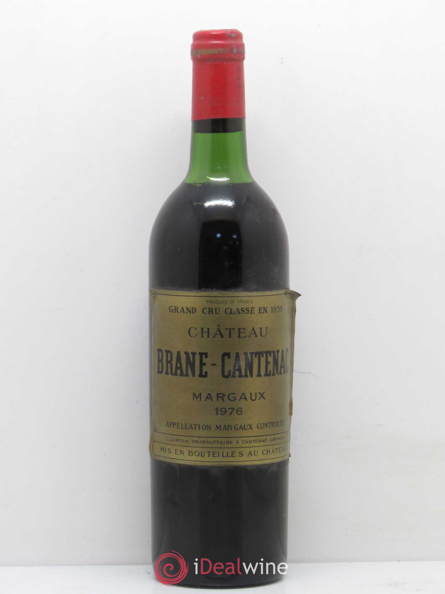 Château Brane Cantenac 2ème Grand Cru Classé  1976 - Lot of 1 Bottle