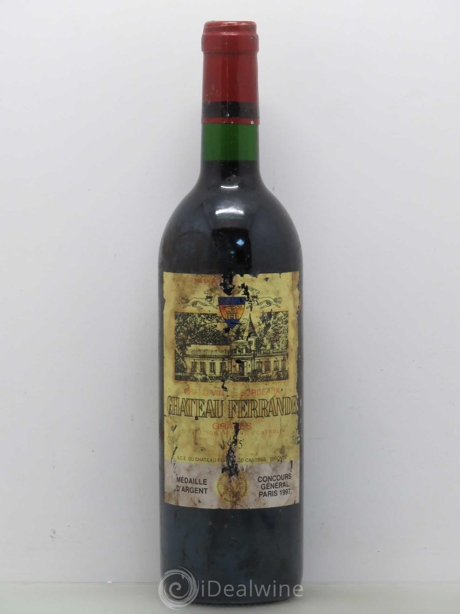 Buy ch teau ferrande 1995 lot 10687 for Chateau ferrande