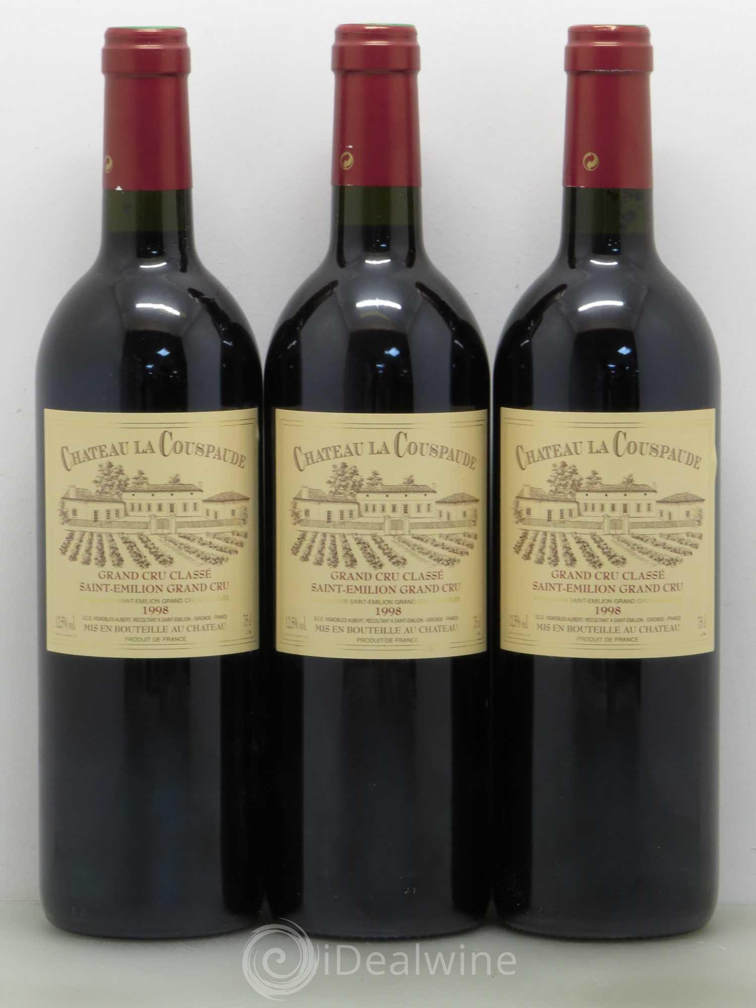 Buy Château la Couspaude Grand Cru Classé 1998 (lot: 11525)