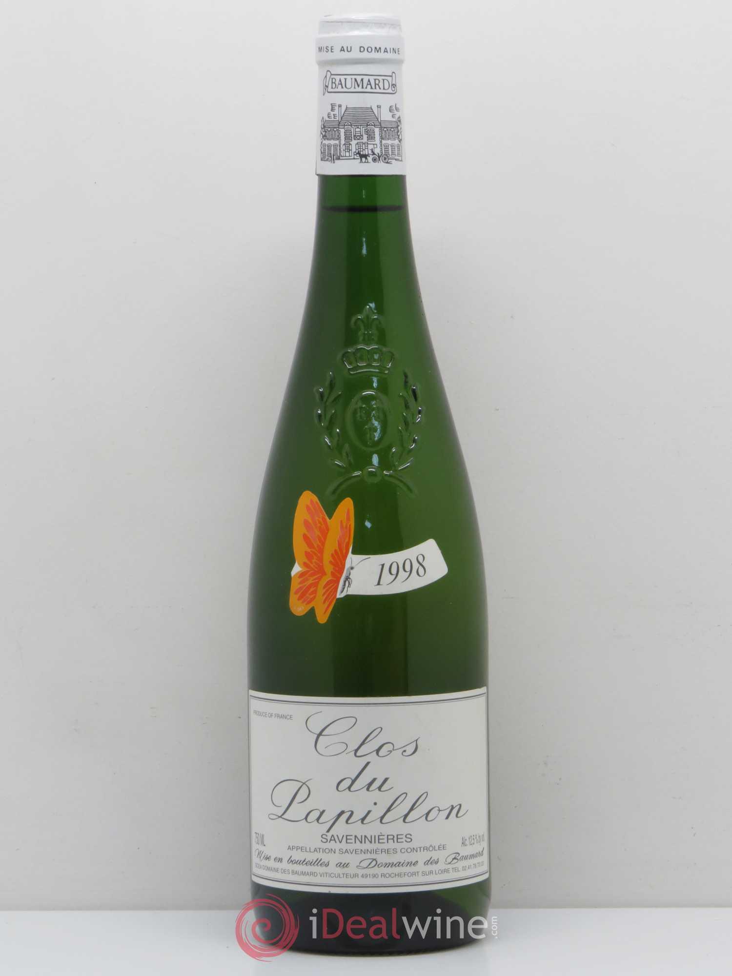 Buy Savennières Clos du Papillon Domaine des Baumard 1998 (lot: 2067)