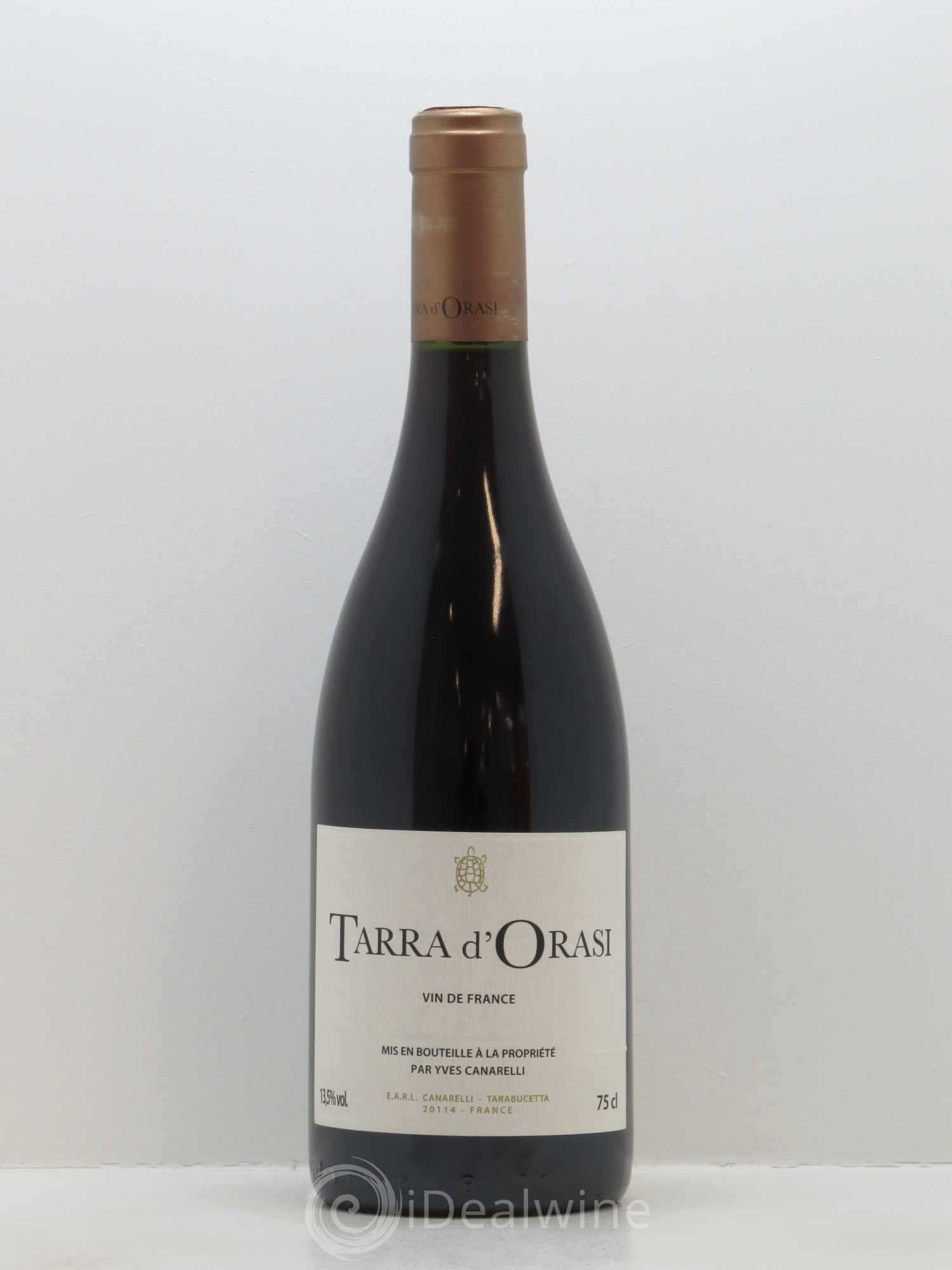 Vin de France Tara d'Orasi Clos Canarelli  2015 - Lot of 1 Bottle