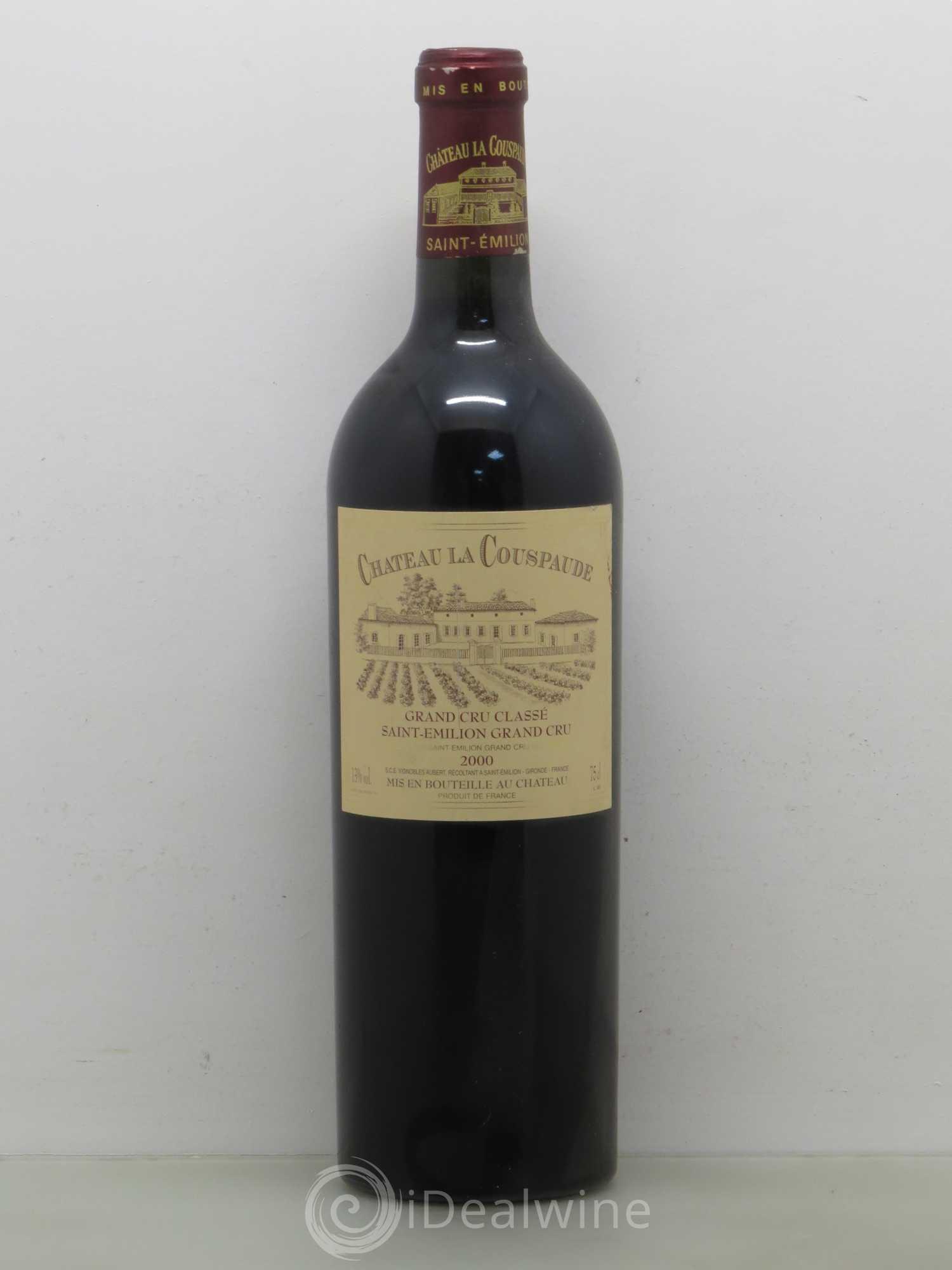 Buy Château la Couspaude Grand Cru Classé 2000 (lot: 5040)
