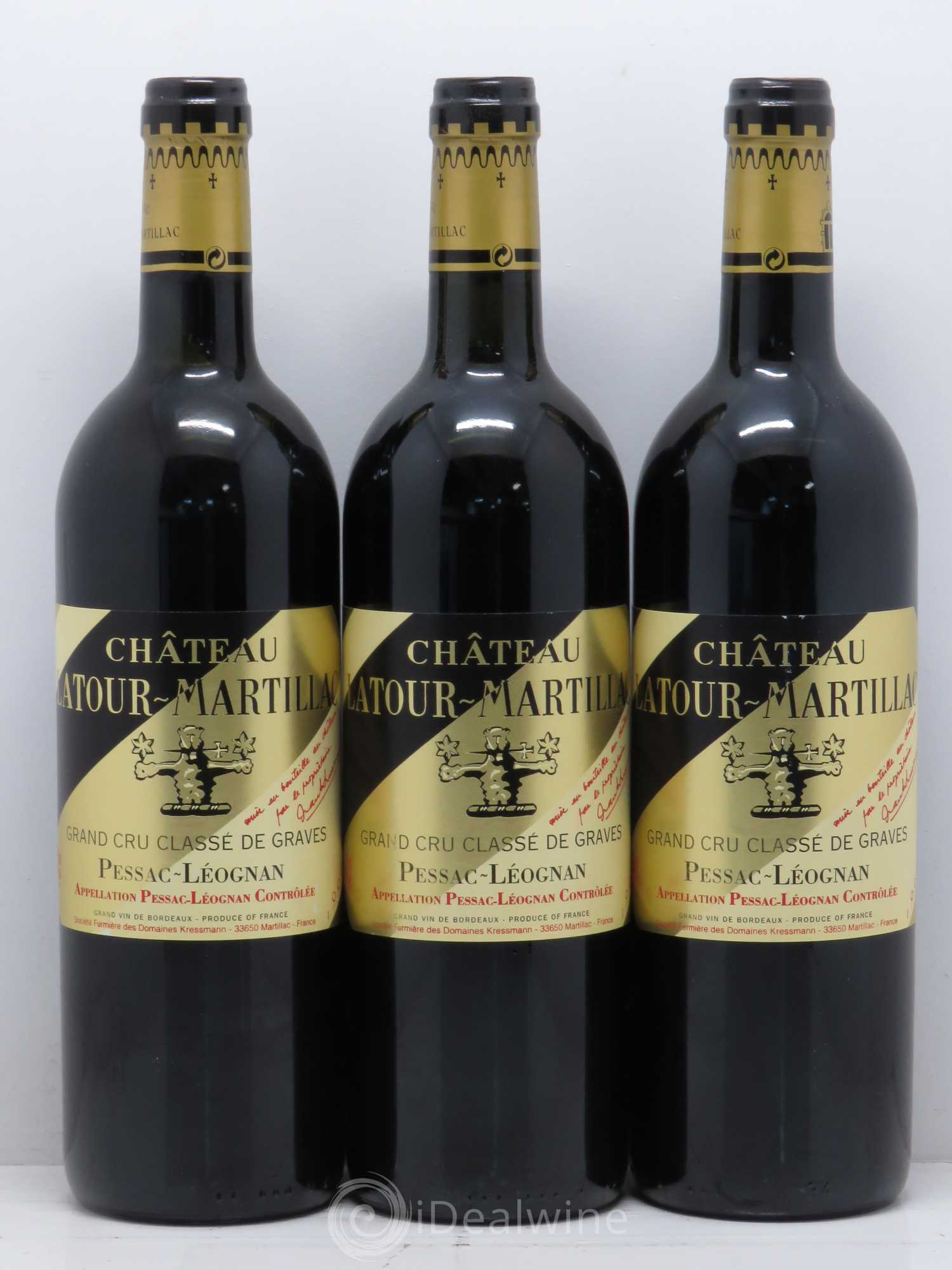 acheter ch teau latour martillac cru class de graves 1999 lot 12060. Black Bedroom Furniture Sets. Home Design Ideas