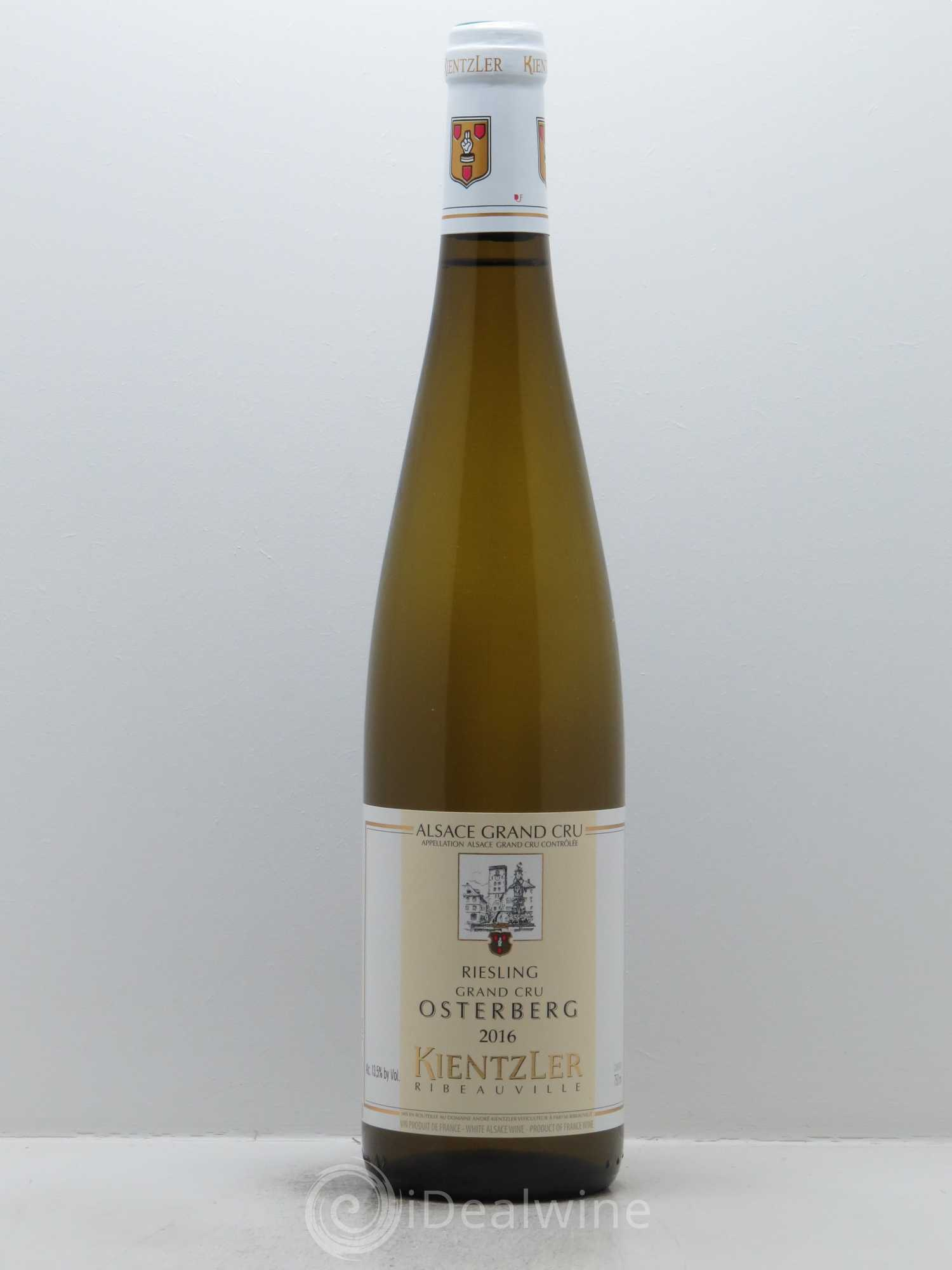 Riesling Grand Cru Osterberg Kientzler (Domaine)  2016 - Lot of 1 Bottle