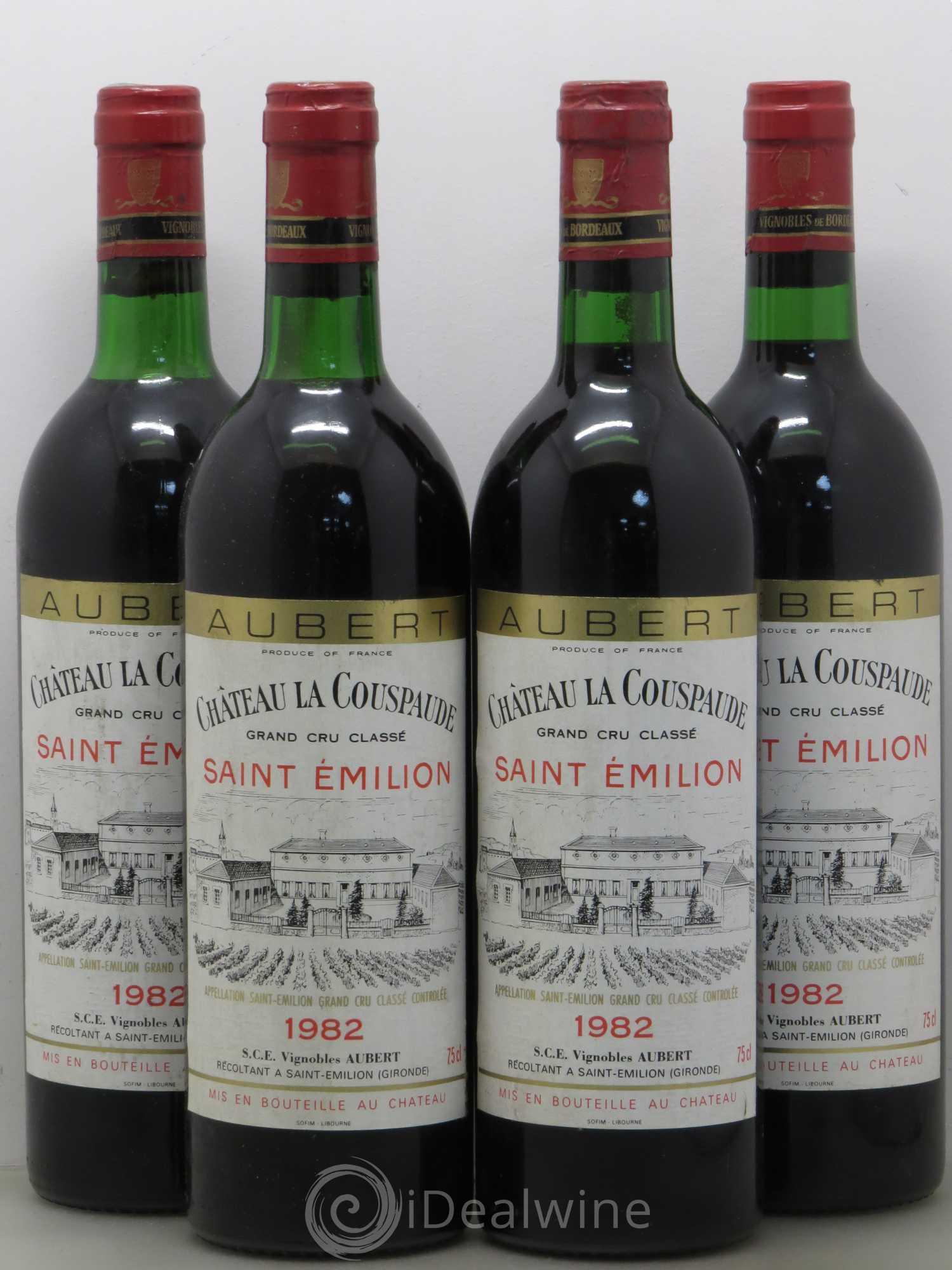 Buy Château la Couspaude Grand Cru Classé (no reserve) 1982 (lot: 9521)