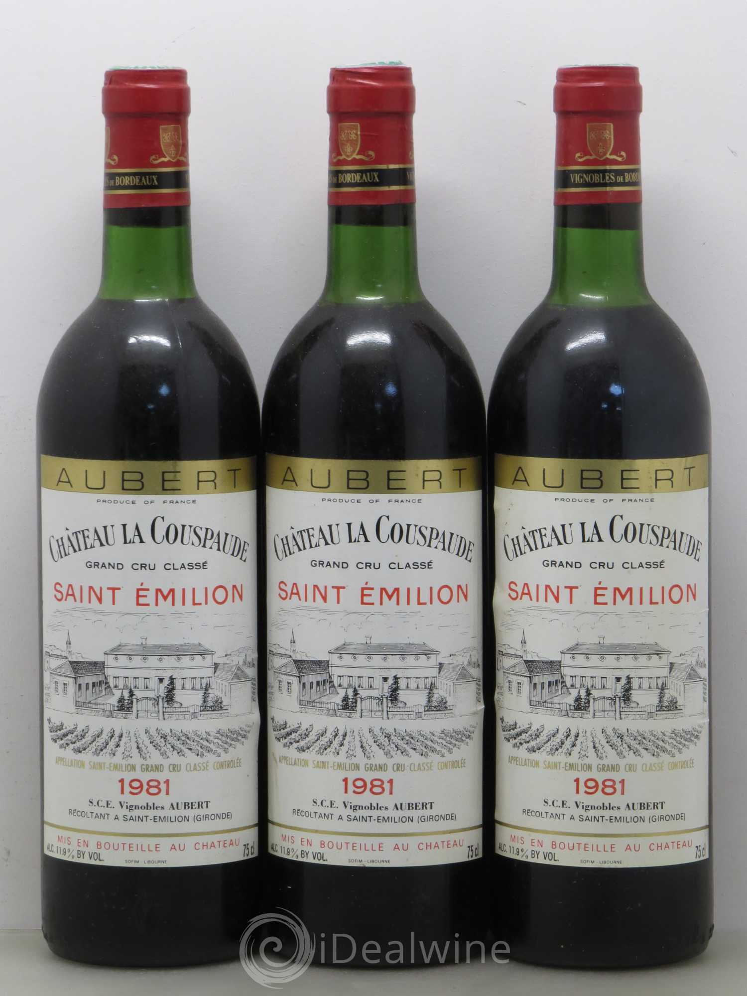 Buy Château la Couspaude Grand Cru Classé (no reserve) 1981 (lot: 9517)
