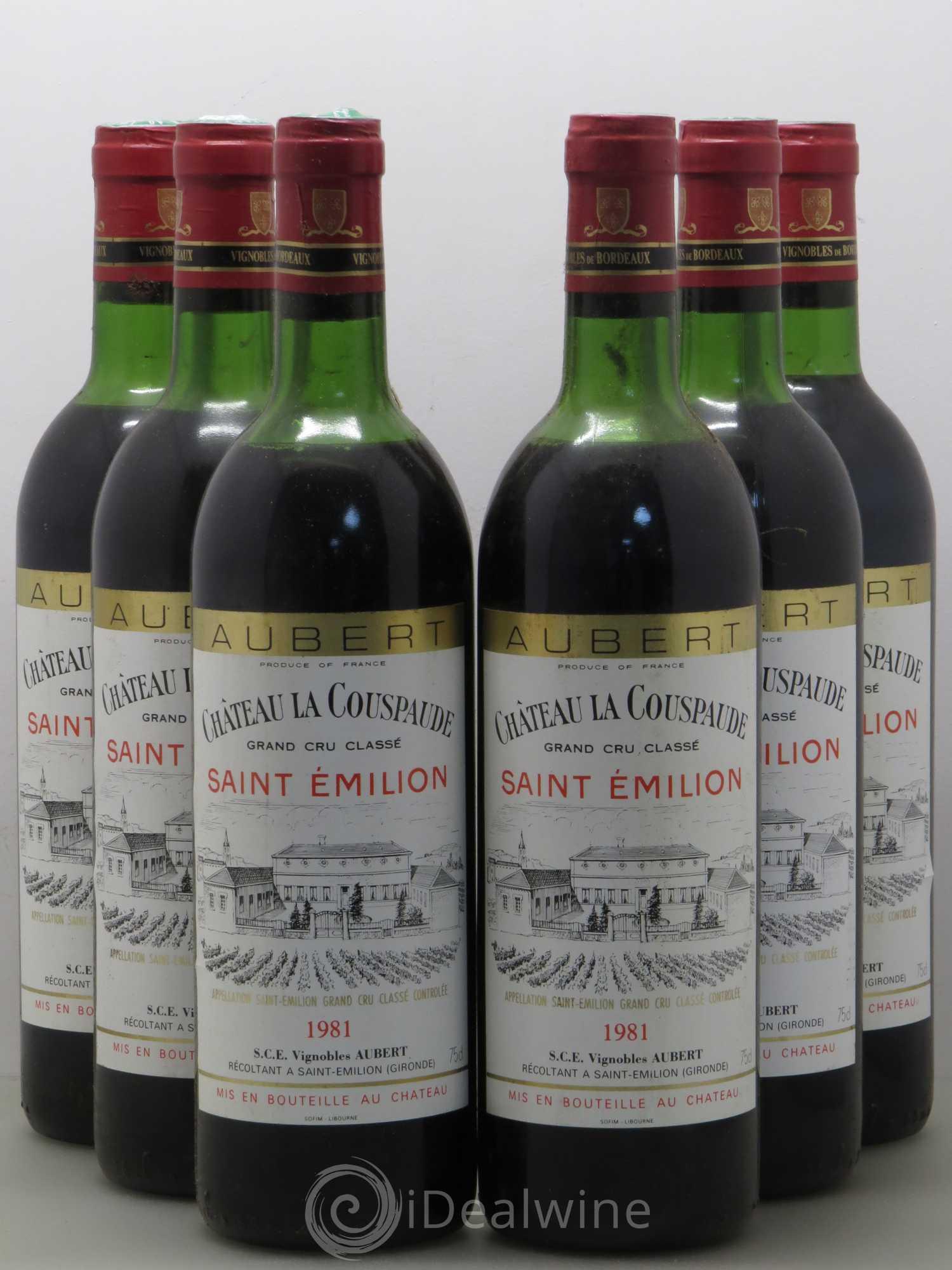 Buy Château la Couspaude Grand Cru Classé 1981 (lot: 10167)
