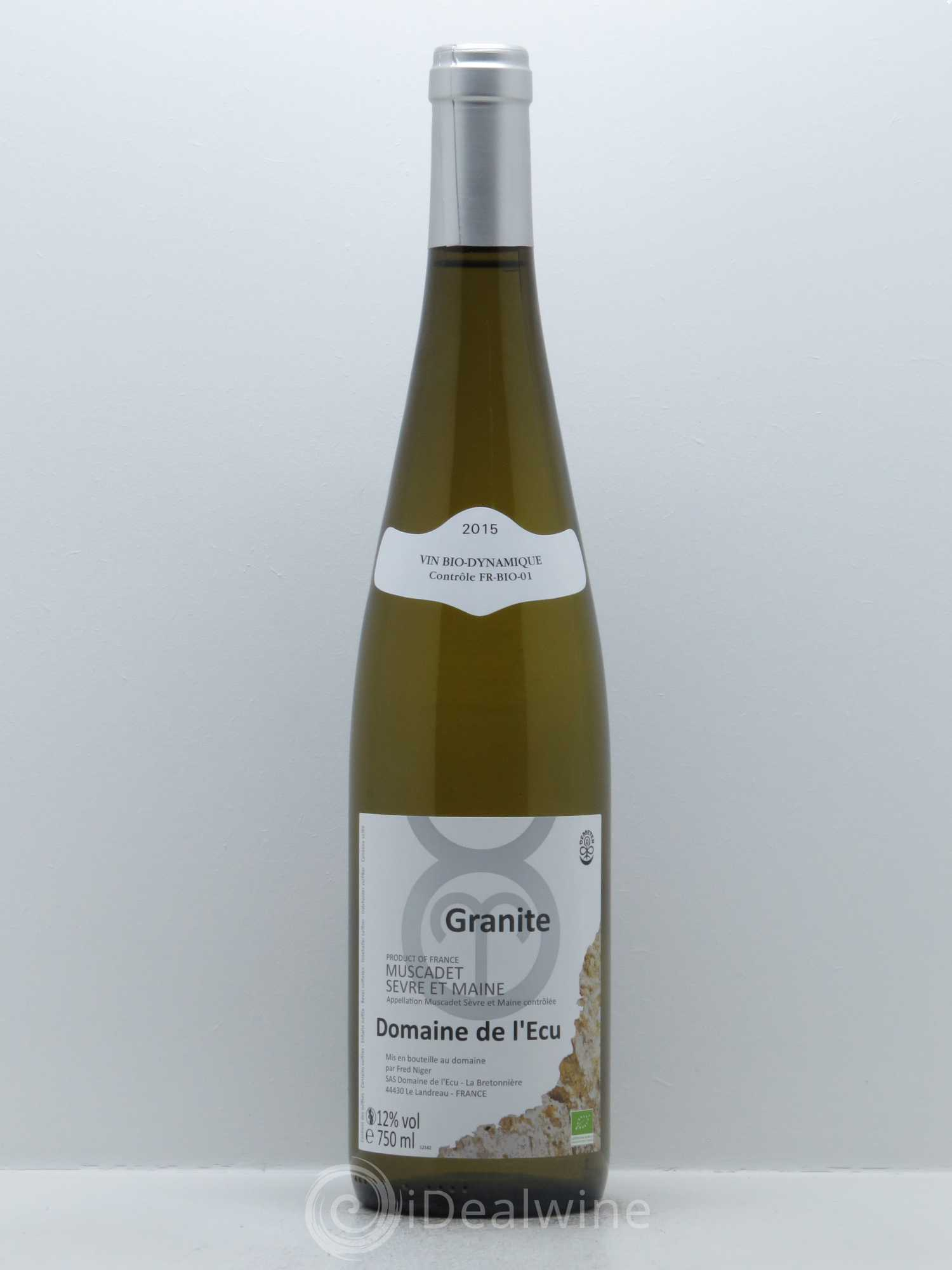 Muscadet-Sèvre-et-Maine Expression de Granite L'Ecu (Domaine de)  2015 - Lot of 1 Bottle