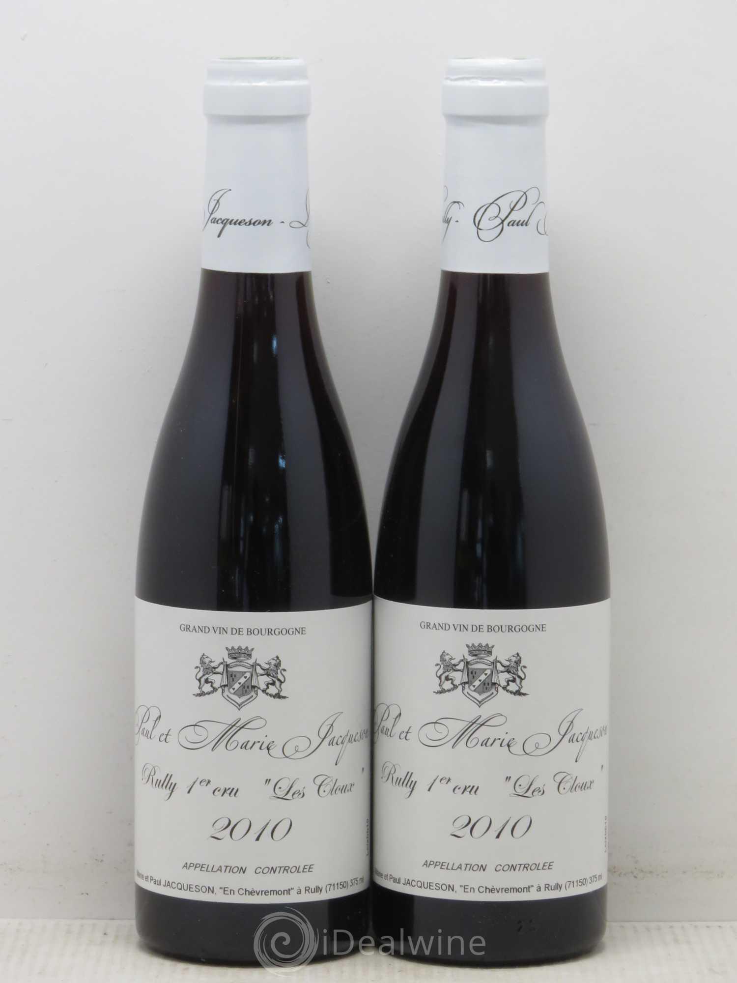 Rully 1er Cru Les Cloux Paul   Marie Jacqueson 2010 - Lot of 2 Half- 343f63a4565a