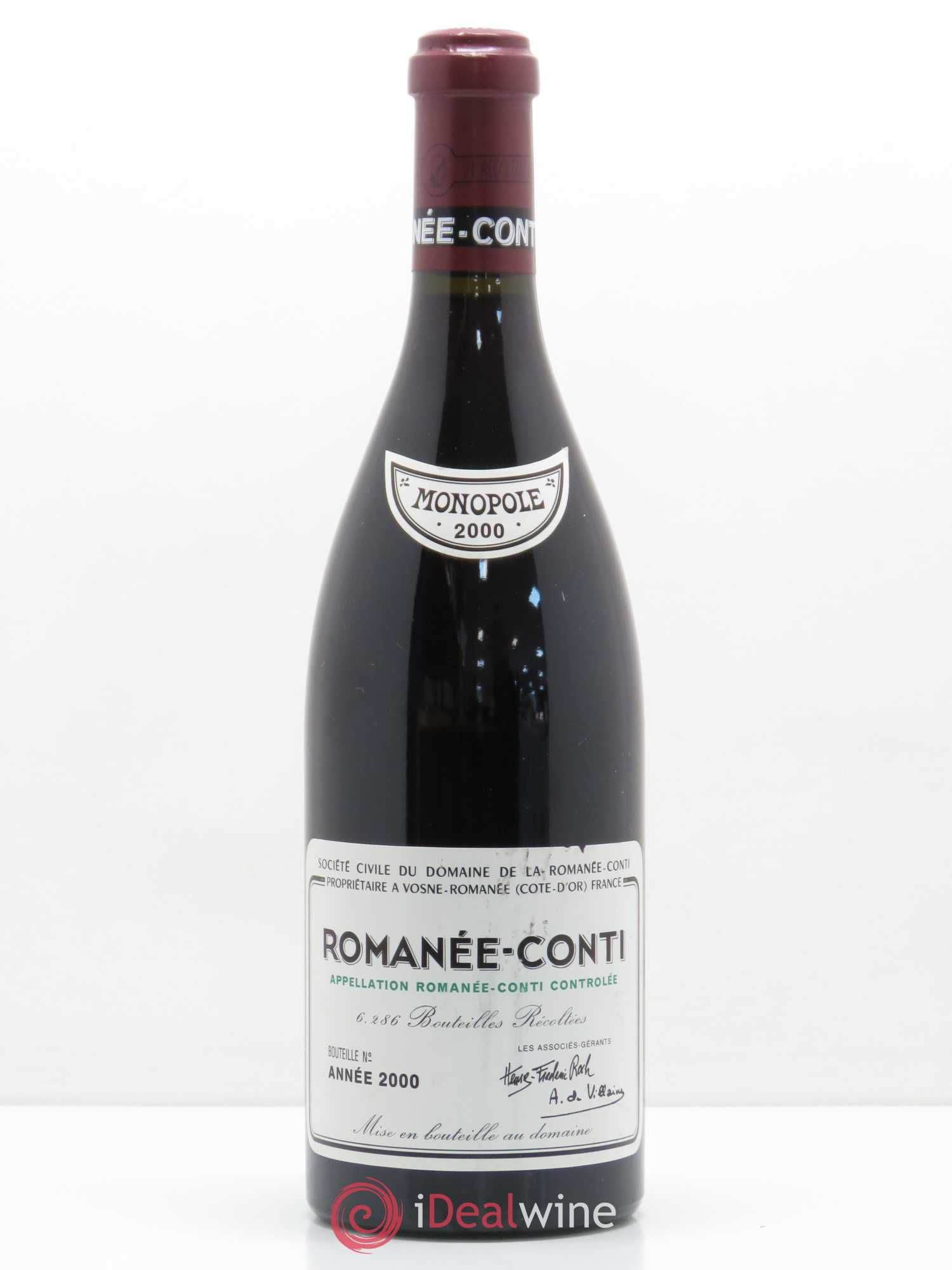 Romanée-Conti Grand Cru Domaine de la Romanée-Conti  2000 - Lot of 1 Bottle