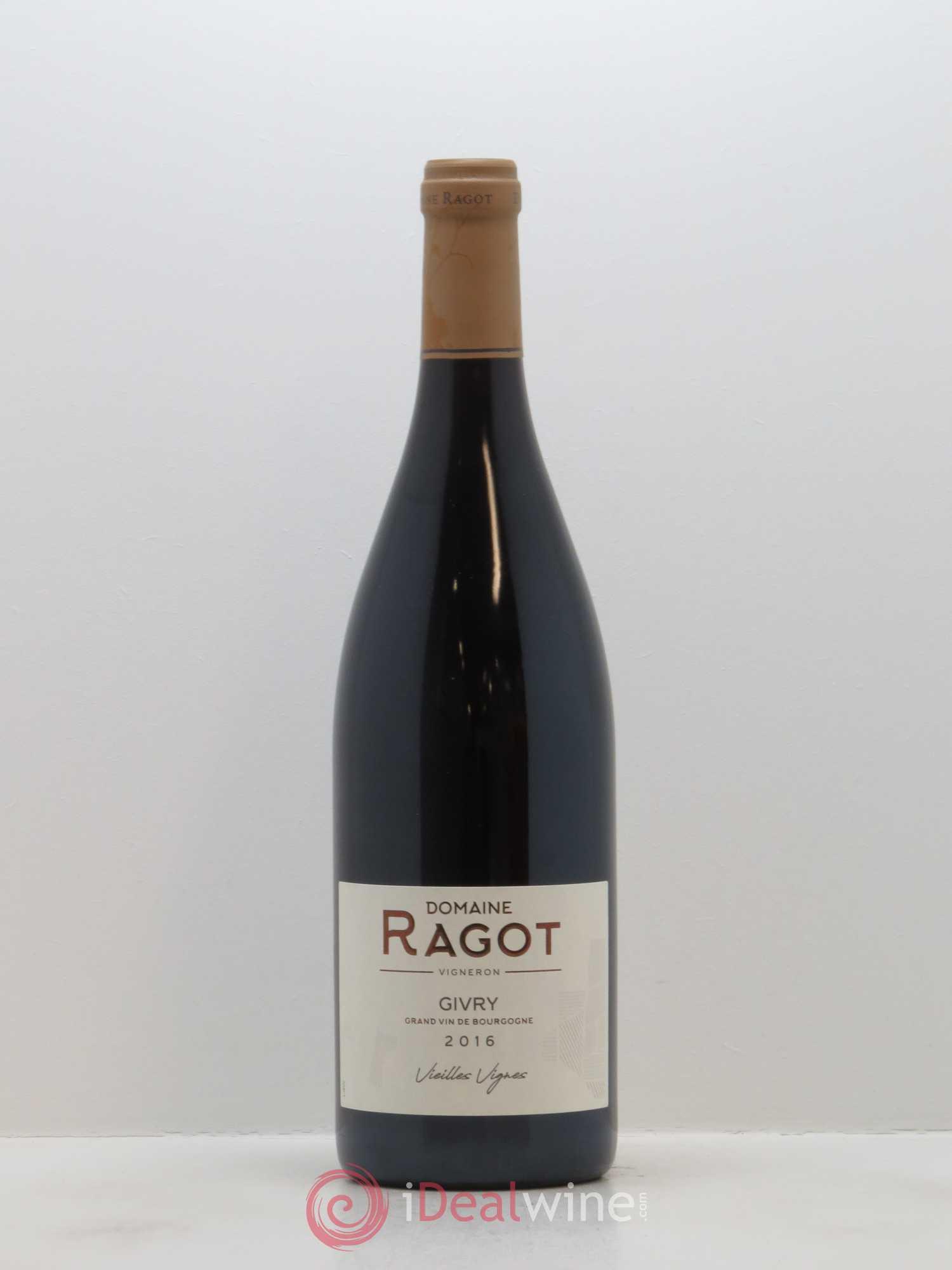Givry Vieilles Vignes Ragot (Domaine) 2016  Lot Of 1