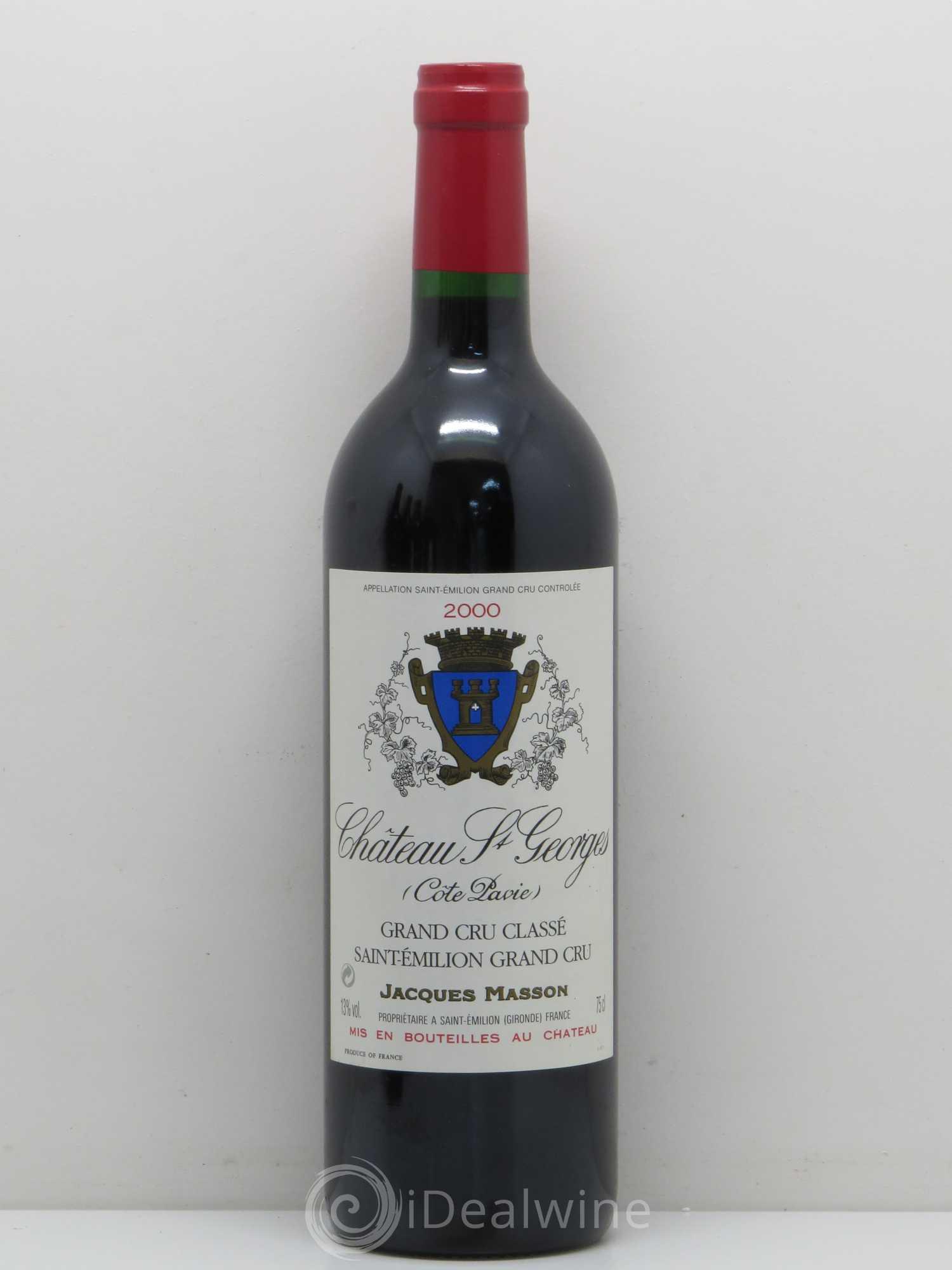 8a1e0586438 Château Saint-Georges Côte Pavie Grand Cru Classé 2000 - Lot of 1 Bottle