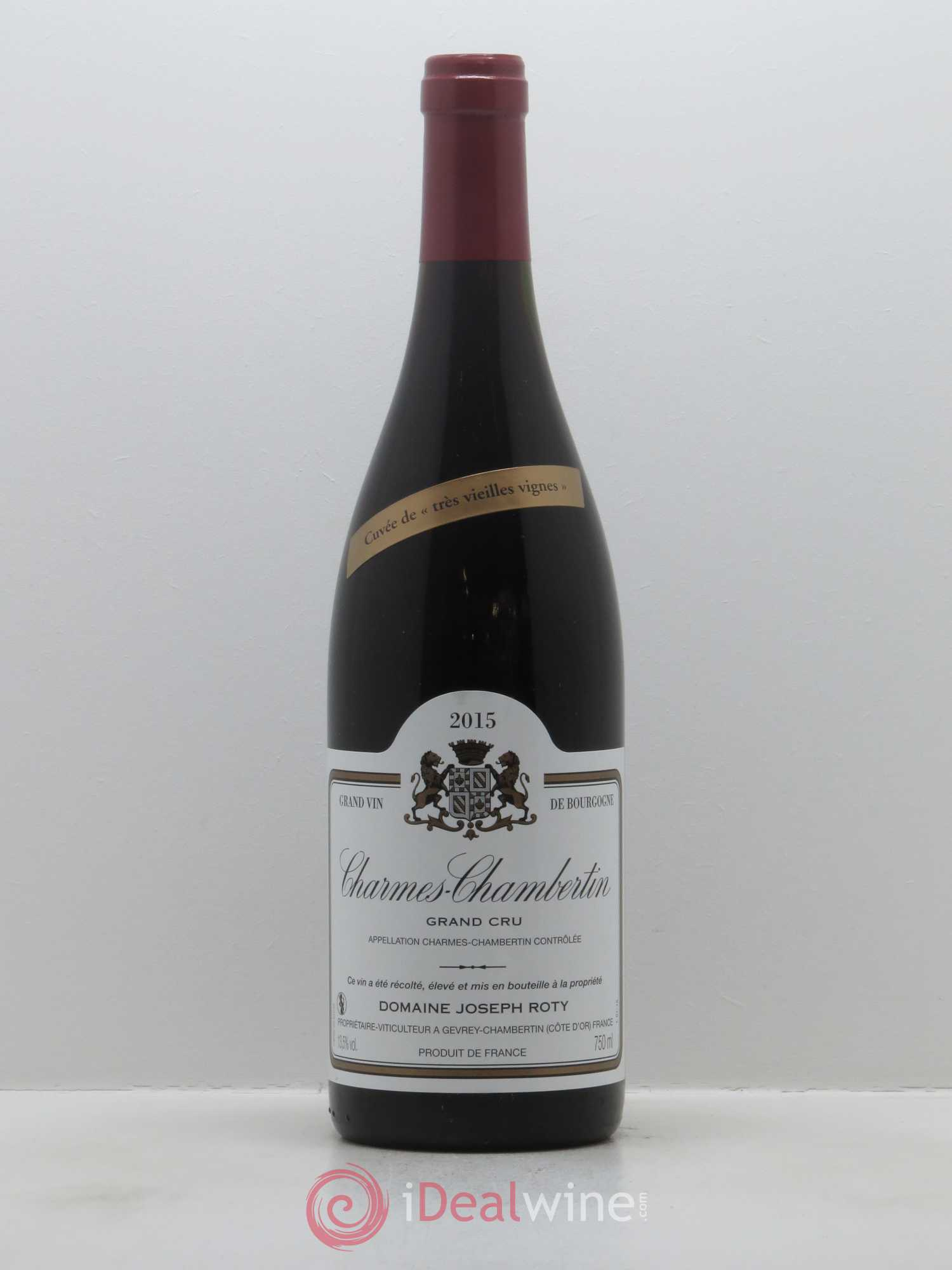 Charmes-Chambertin Grand Cru Très vieilles vignes Joseph Roty (Domaine)  2015 - Lot of 1 Bottle