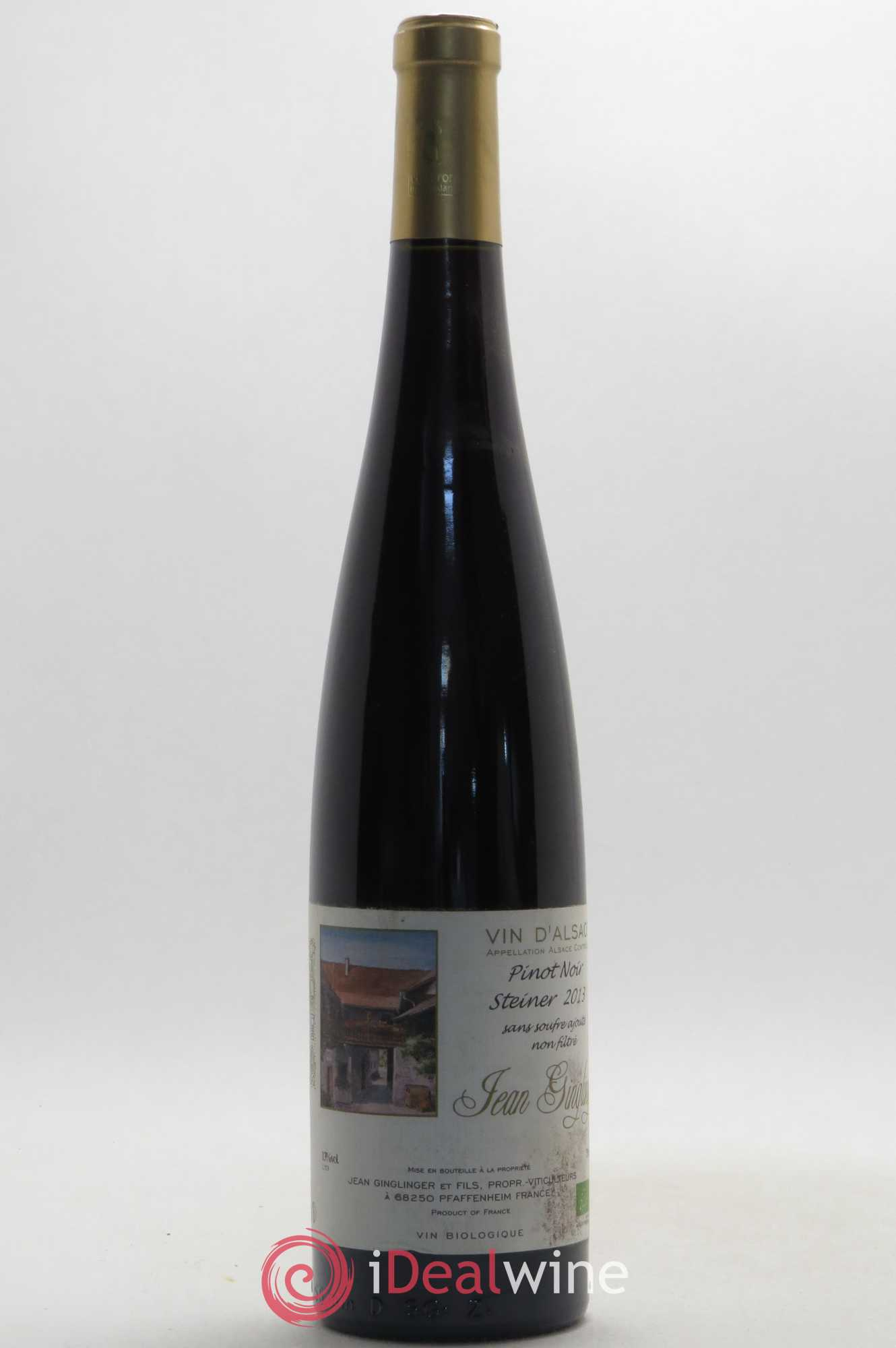 Pinot noir Jean Ginglinger Sans souffre Steiner 2013 - Lot of 1 Bottle