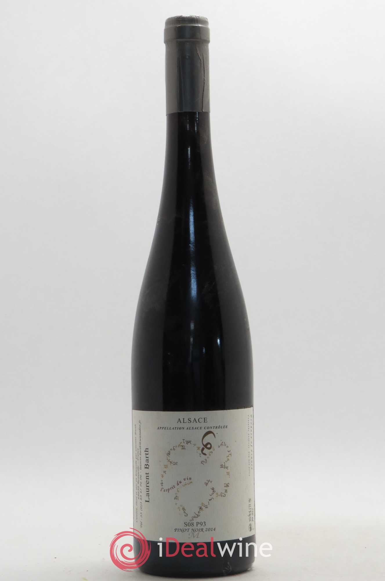 Pinot noir S08 P93 Laurent Barth 2014 - Lot of 1 Bottle