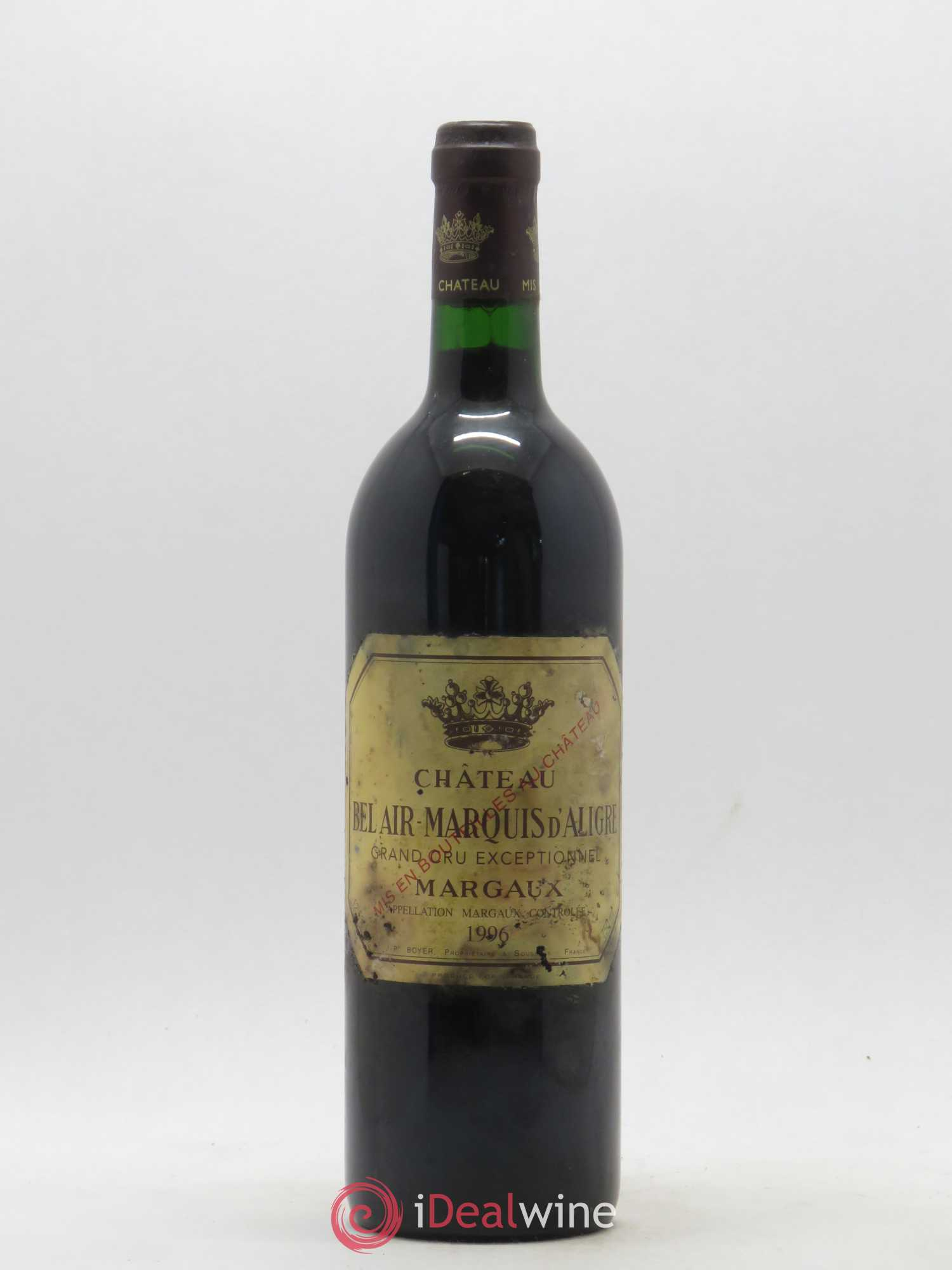 Château Bel Air Marquis d'Aligre  1996 - Lot of 1 Bottle