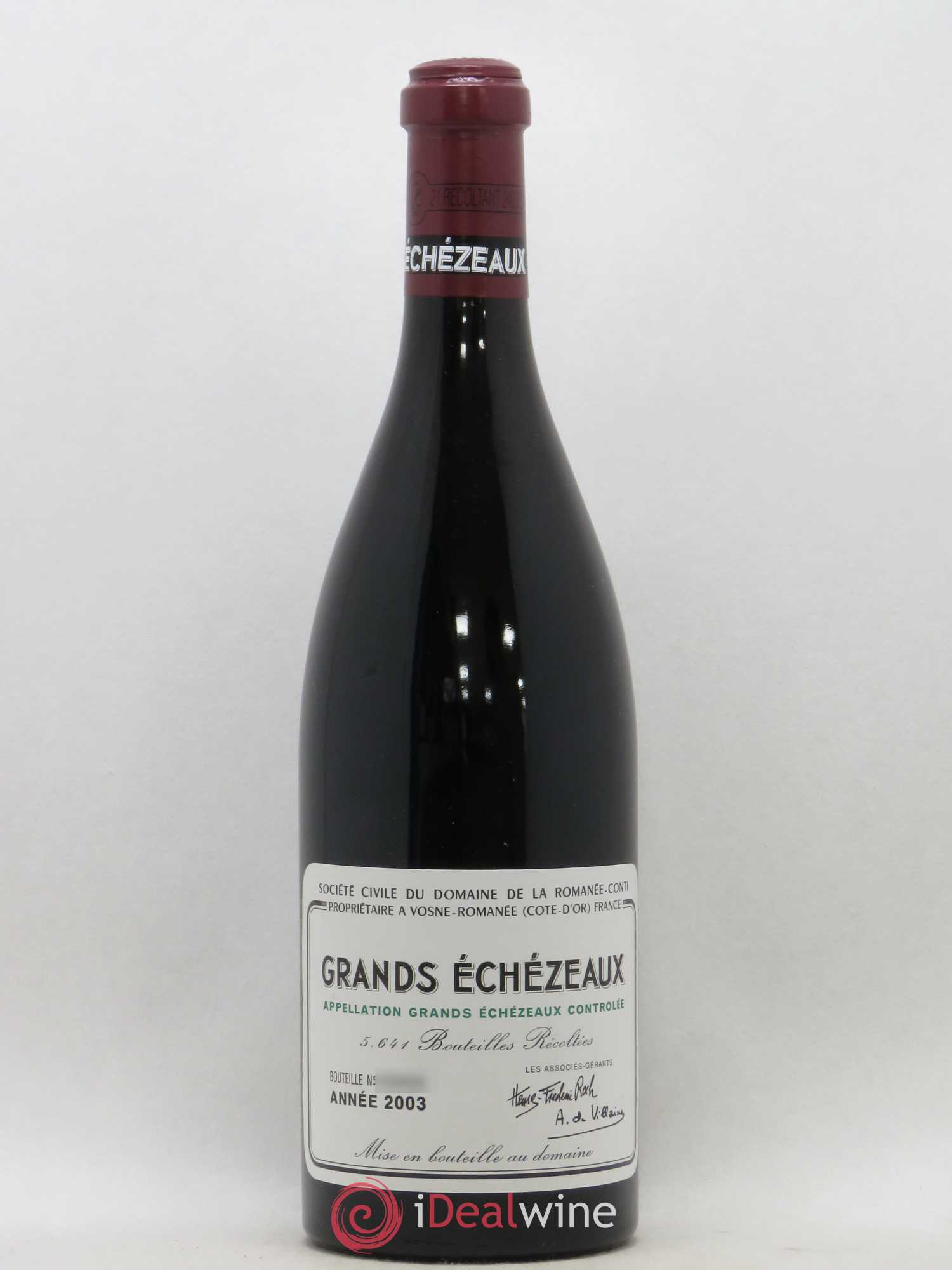 Grands-Echézeaux Grand Cru Domaine de la Romanée-Conti  2003 - Lot of 1 Bottle