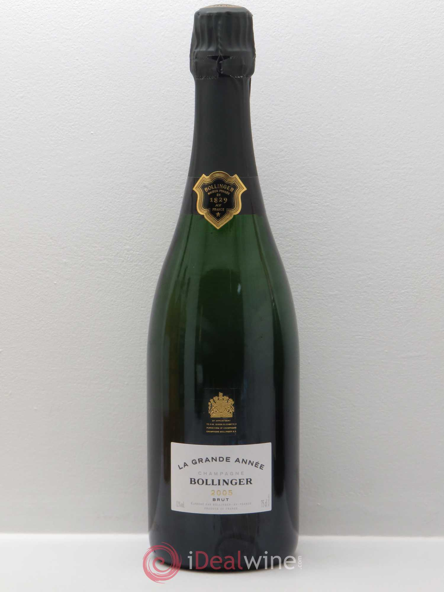 Grande Année Bollinger  2005 - Lot of 1 Bottle