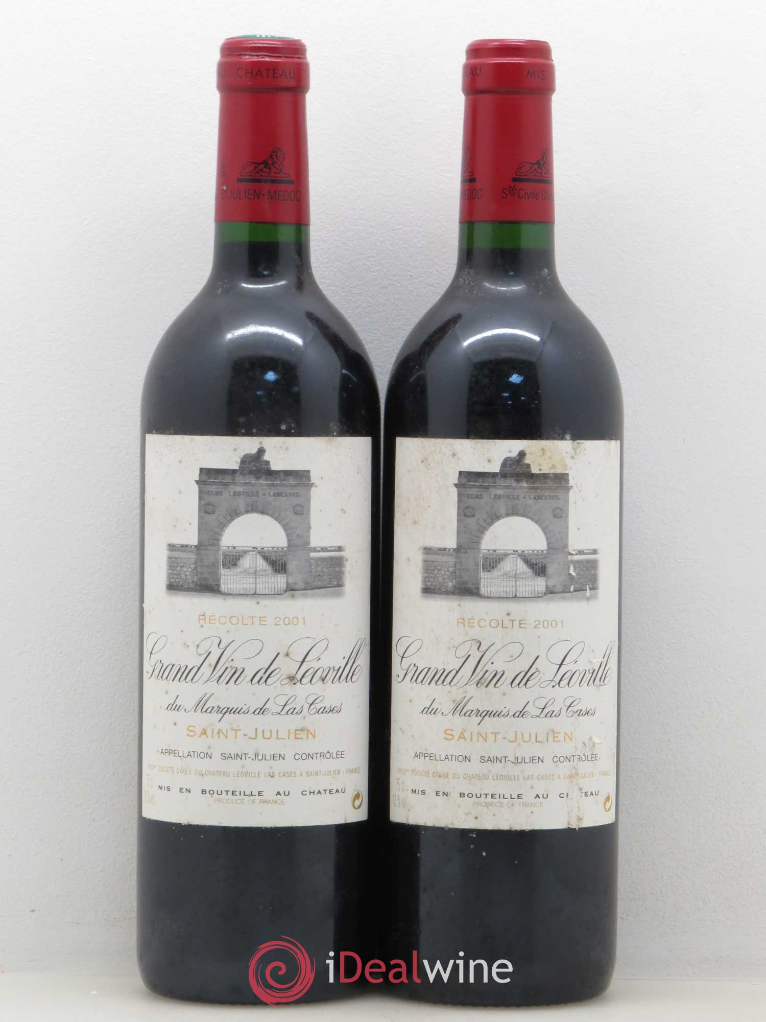 Château Léoville Las Cases 2ème Grand Cru Classé  2001 - Lot of 2 Bottles