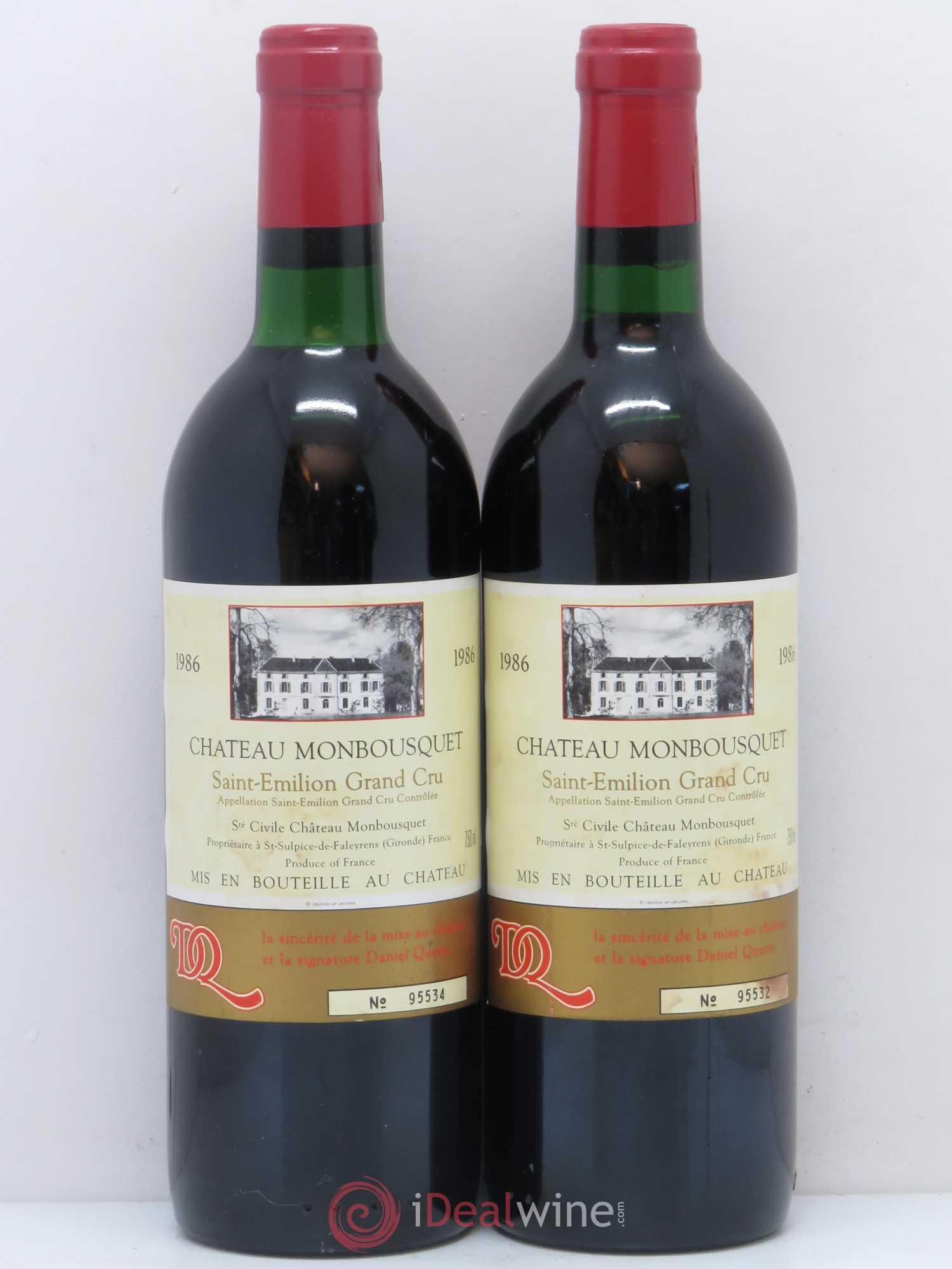 Buy ch teau monbousquet grand cru class 1986 lot 8582 for Buy chateaubriand