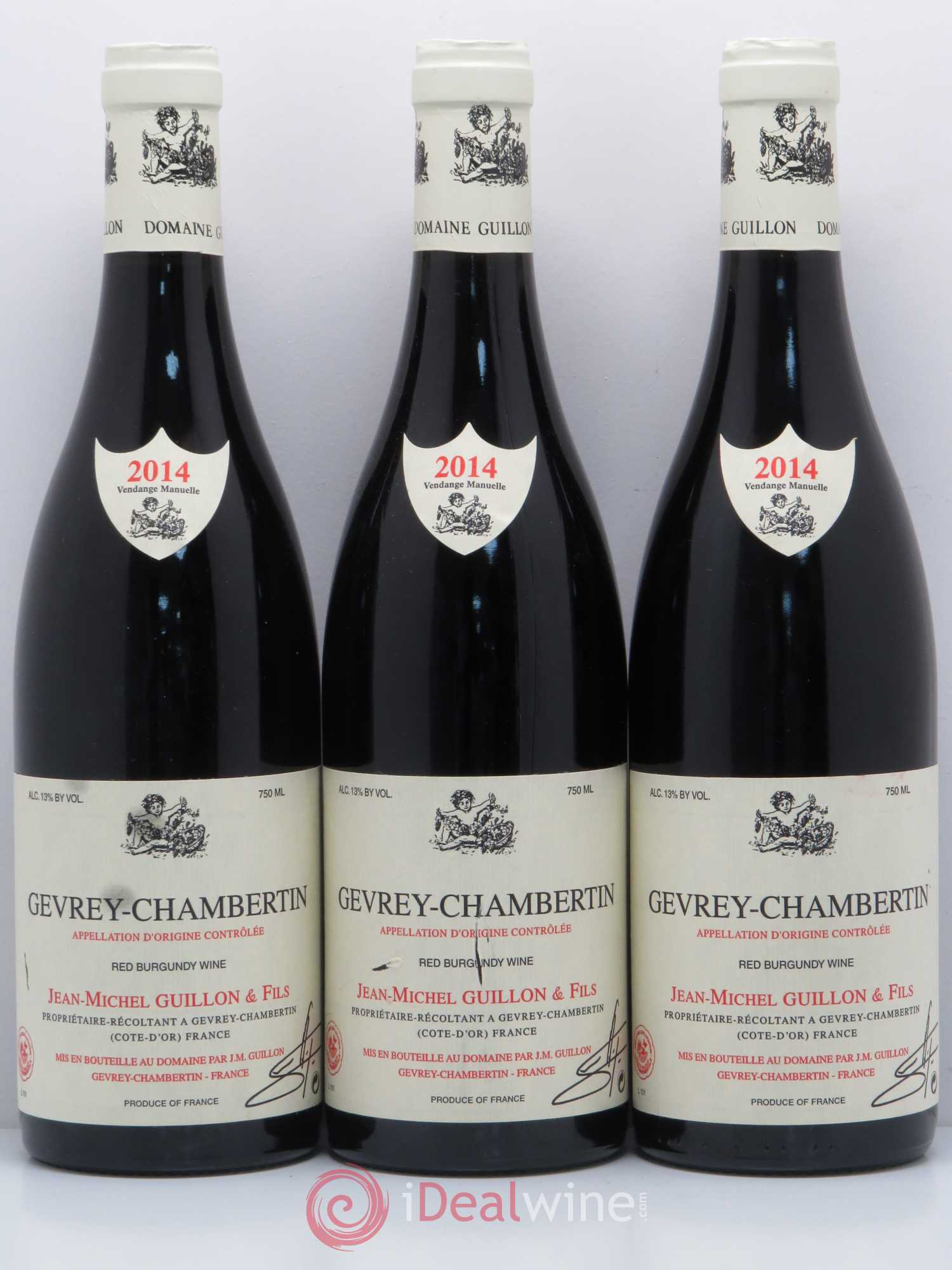 Gevrey Chambertin Jean Michel Guillon 2014  Lot Of 3 Bottles