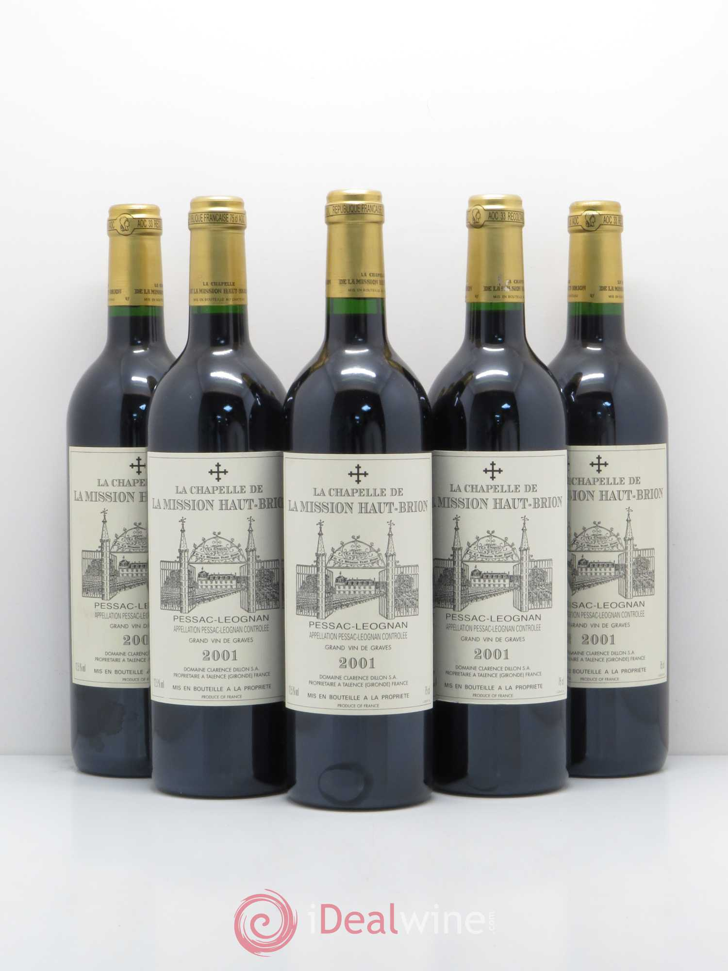 La Chapelle de La Mission Haut-Brion Second Vin  2001 - Lot de 5 Bouteilles
