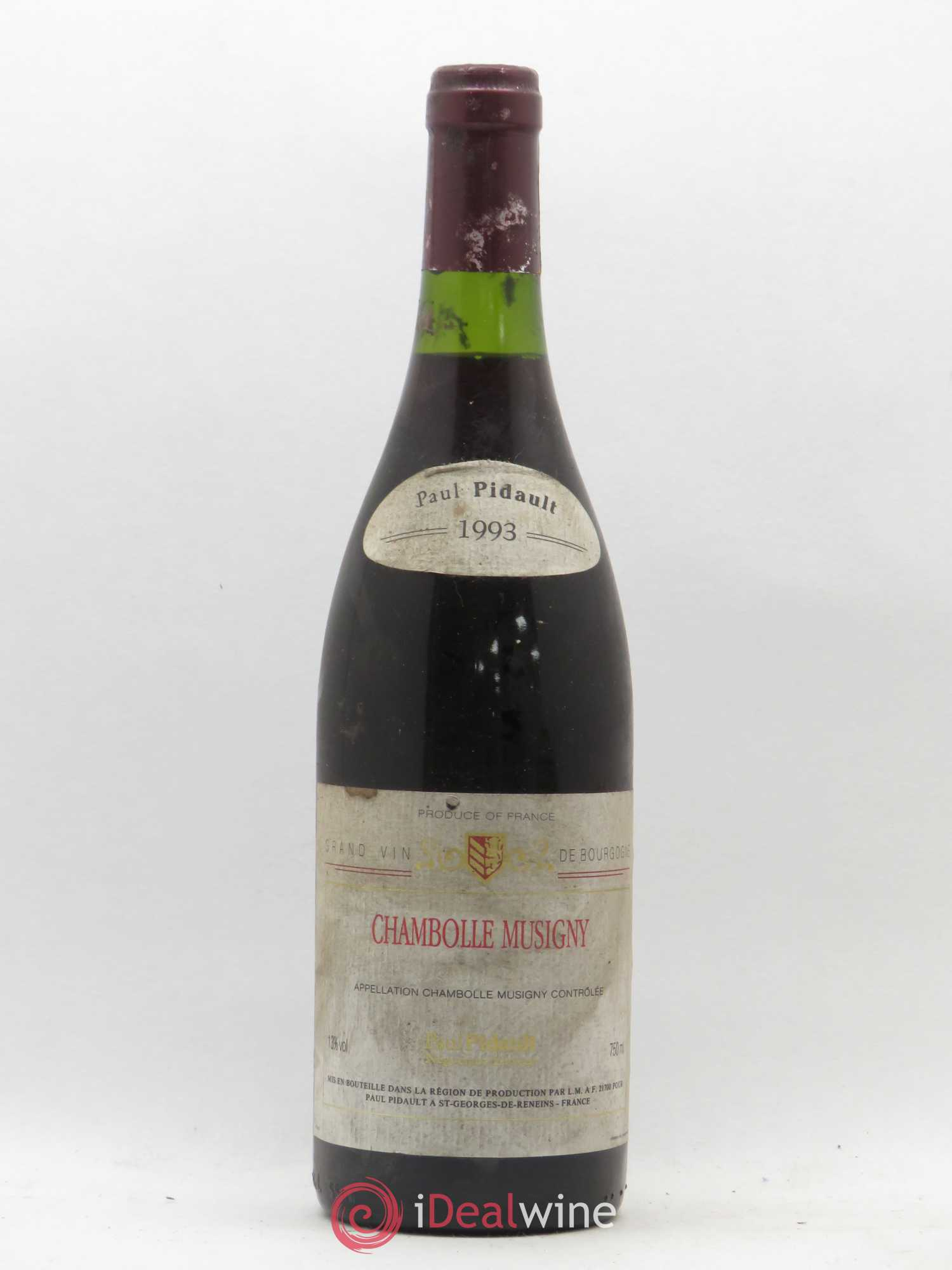 Chambolle-Musigny P. Pidault 1993 - Lot de 1 Bouteille