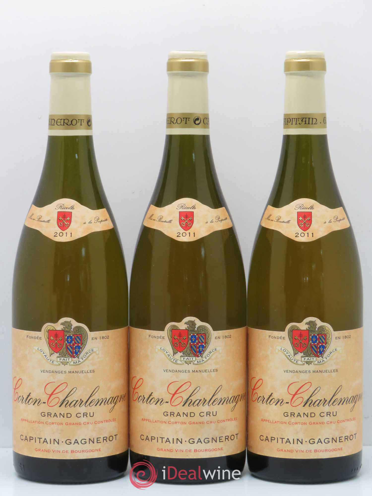 Corton-Charlemagne Grand Cru Capitain Gagneraud 2011 - Lot de 3 Bouteilles