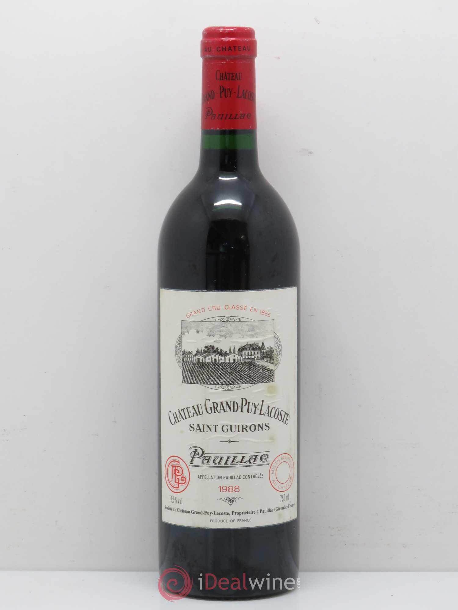 9545 Grand lot Lacoste 1988 Acheter Château Cru Puy Classé 5ème 7pwzqHZ