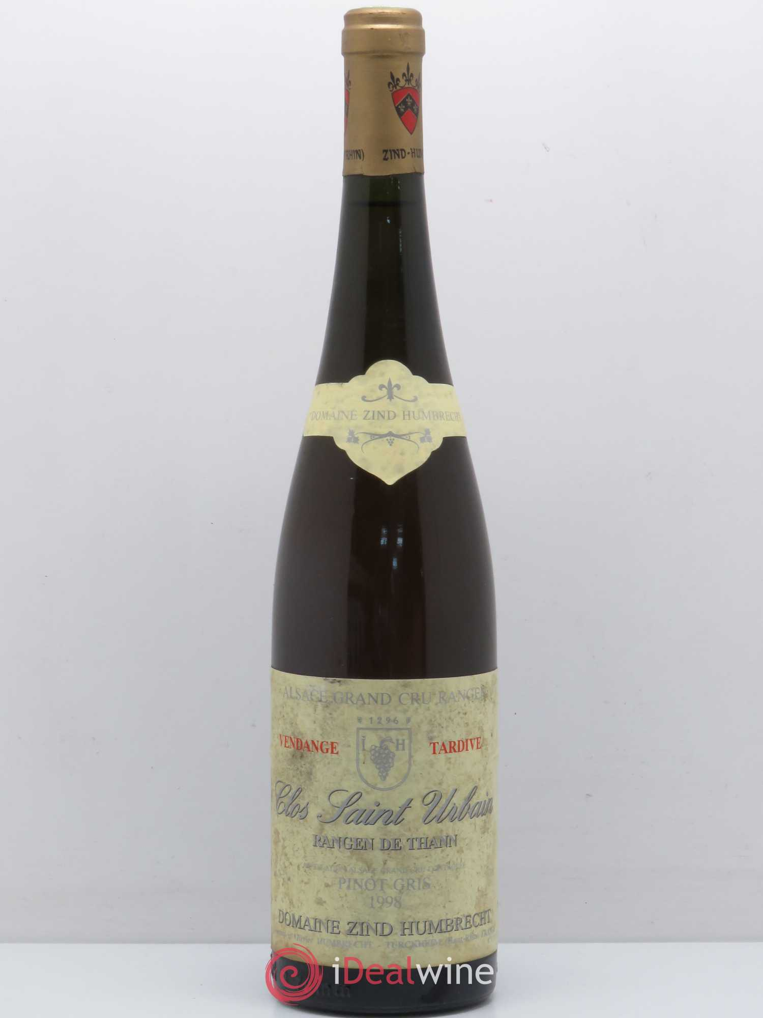Pinot Gris Grand Cru Rangen de Thann Zind-Humbrecht (Domaine) Vendanges Tardives 1998 - Lot of 1 Bottle