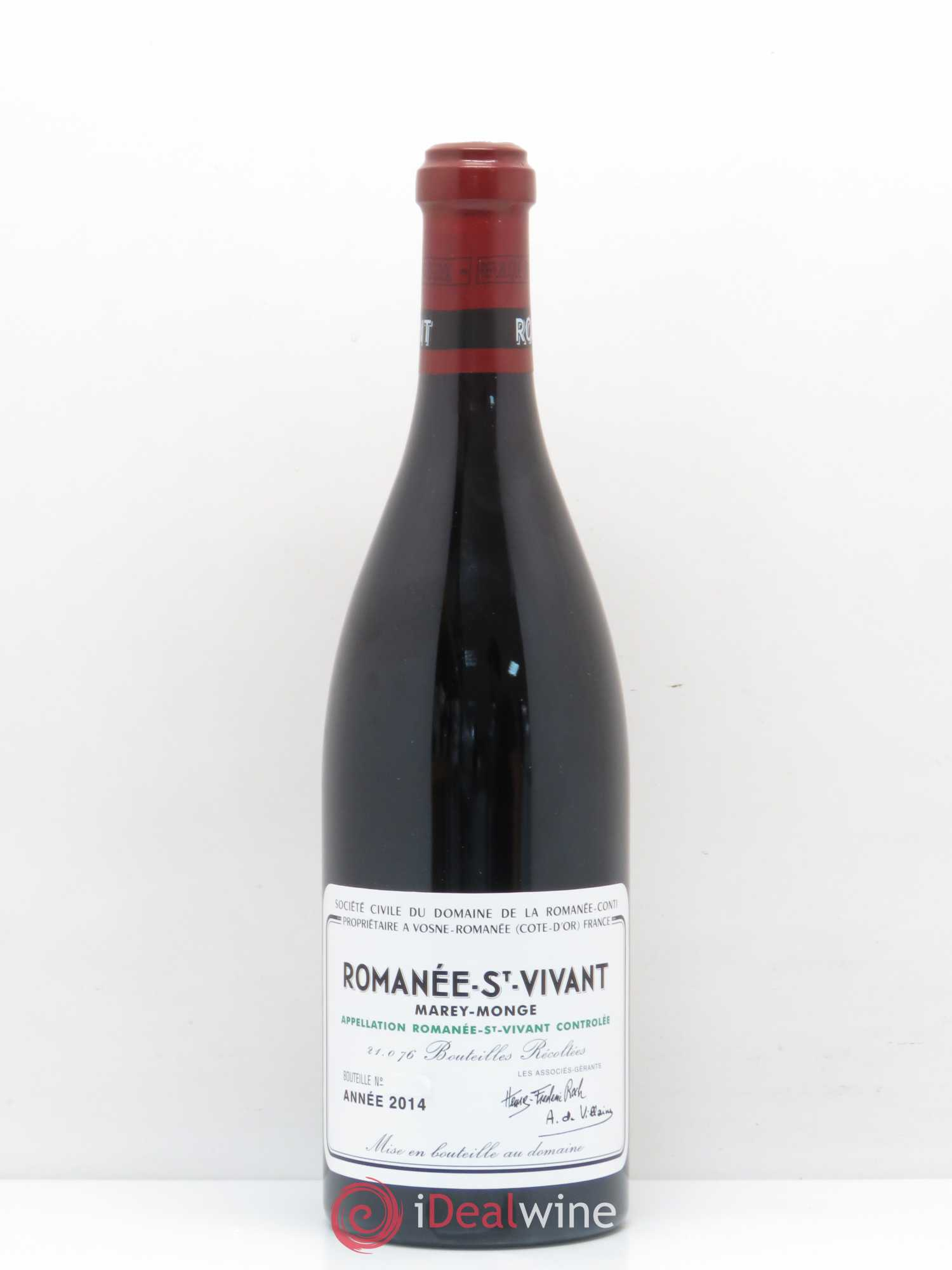 Romanée-Saint-Vivant Grand Cru Domaine de la Romanée-Conti  2014 - Lot of 1 Bottle