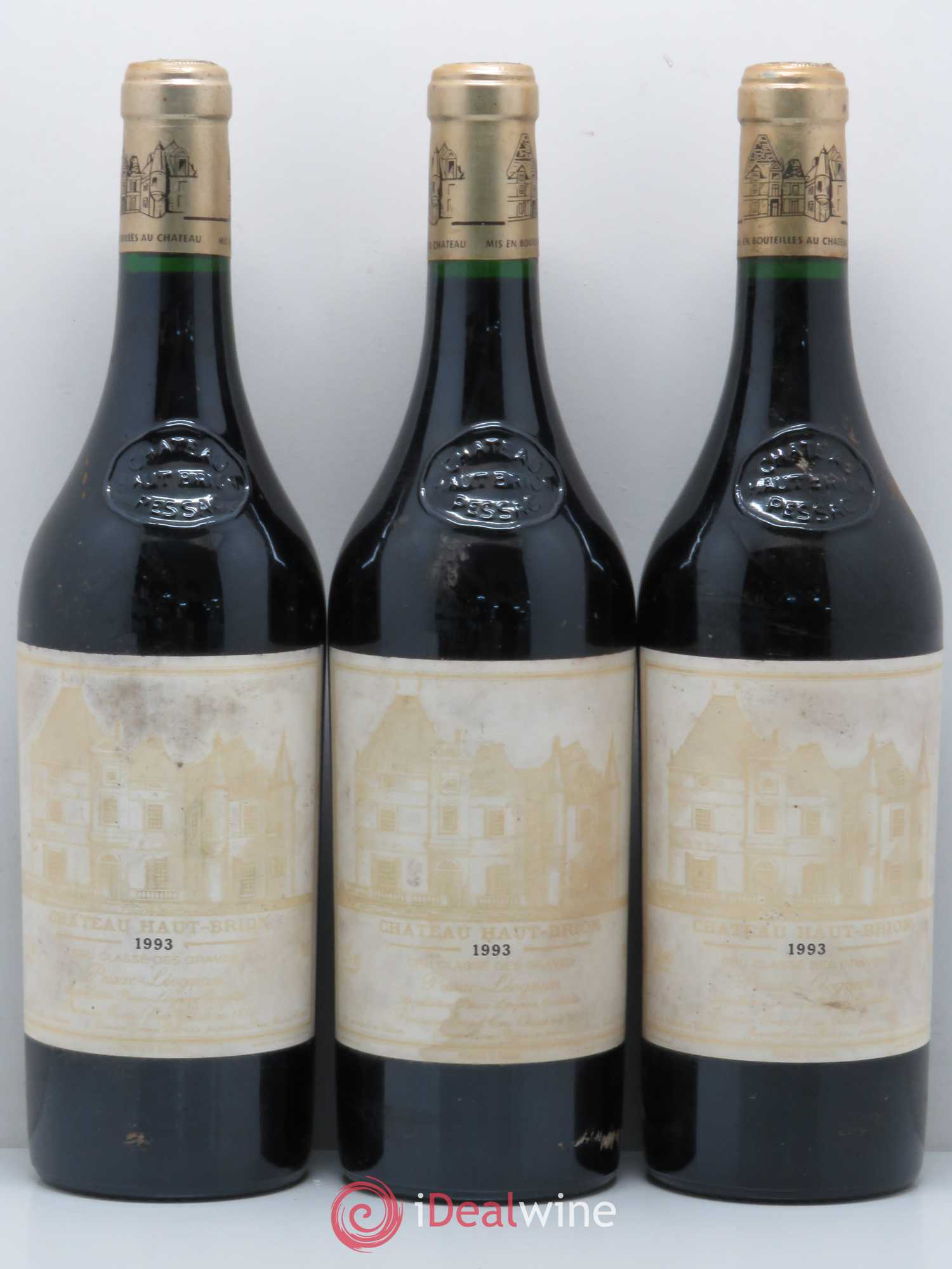 Château Haut Brion 1er Grand Cru Classé  1993 - Lot of 3 Bottles