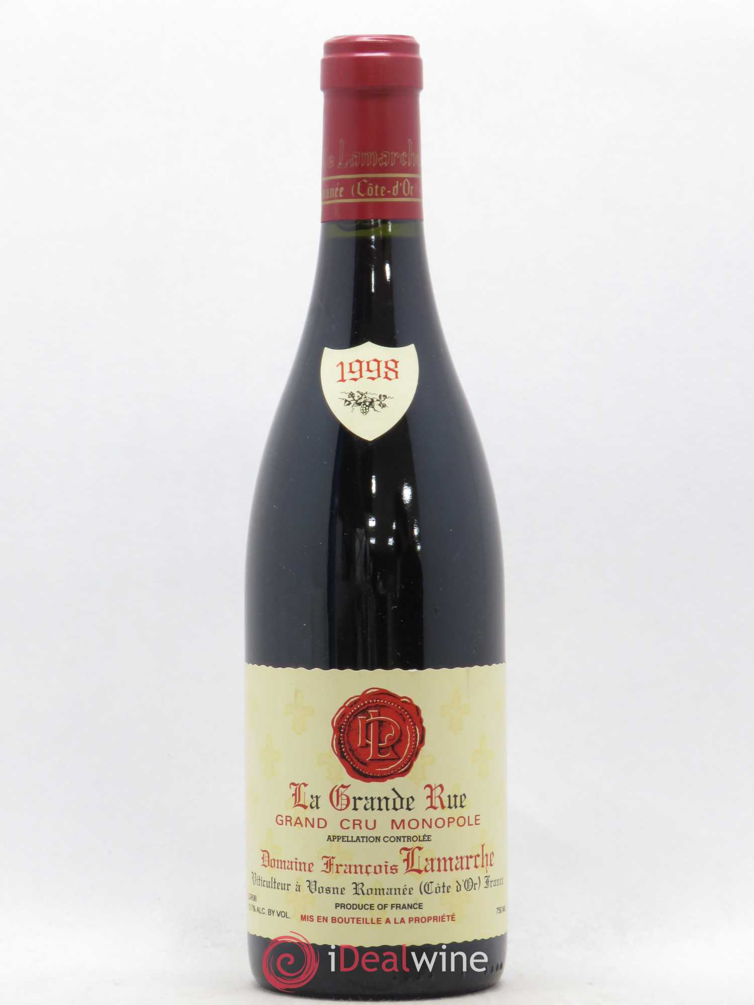 La Grande Rue Grand Cru François Lamarche  1998 - Lot of 1 Bottle