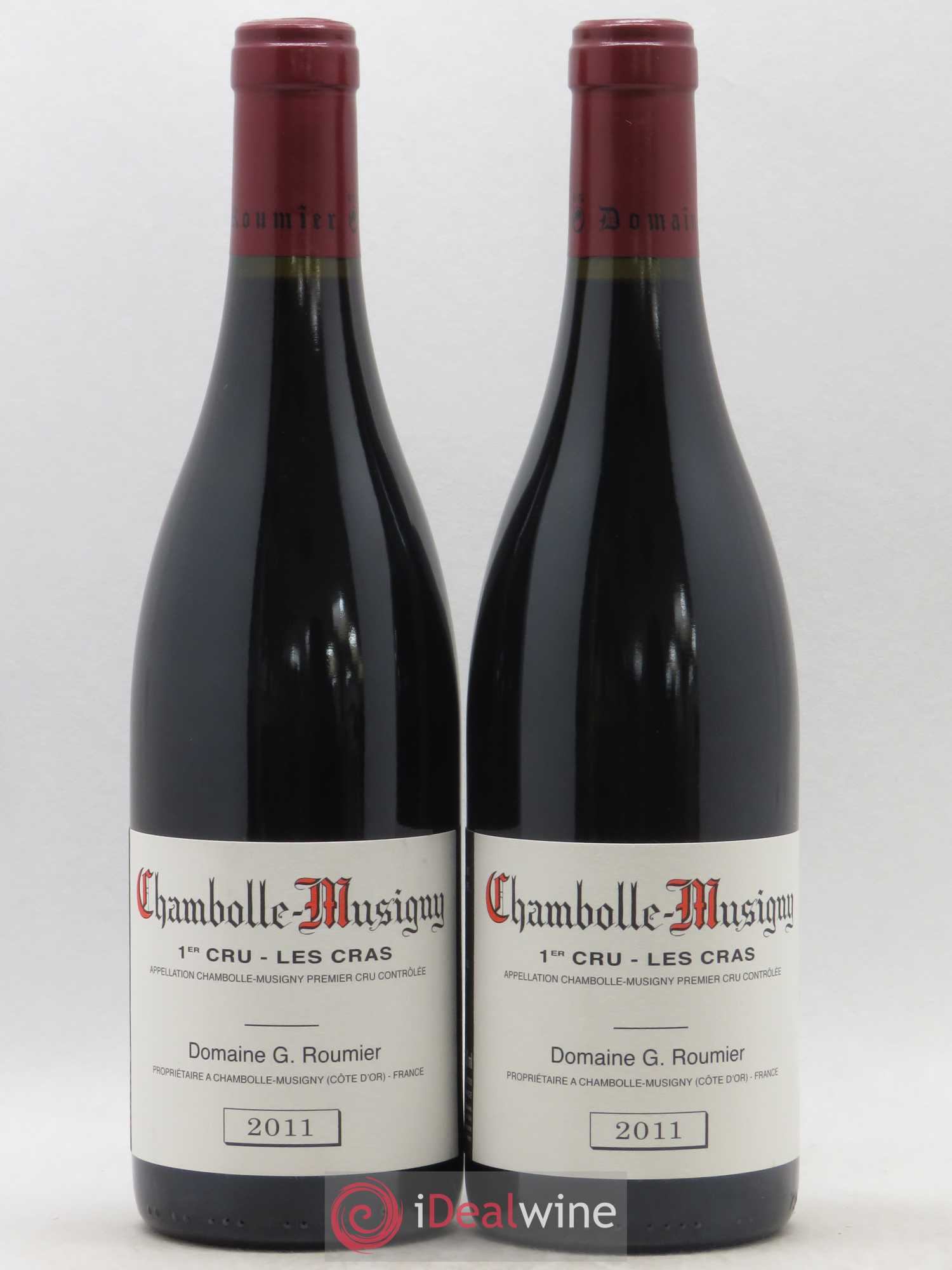 Chambolle-Musigny 1er Cru Les Cras Georges Roumier (Domaine)  2011 - Lot of 2 Bottles