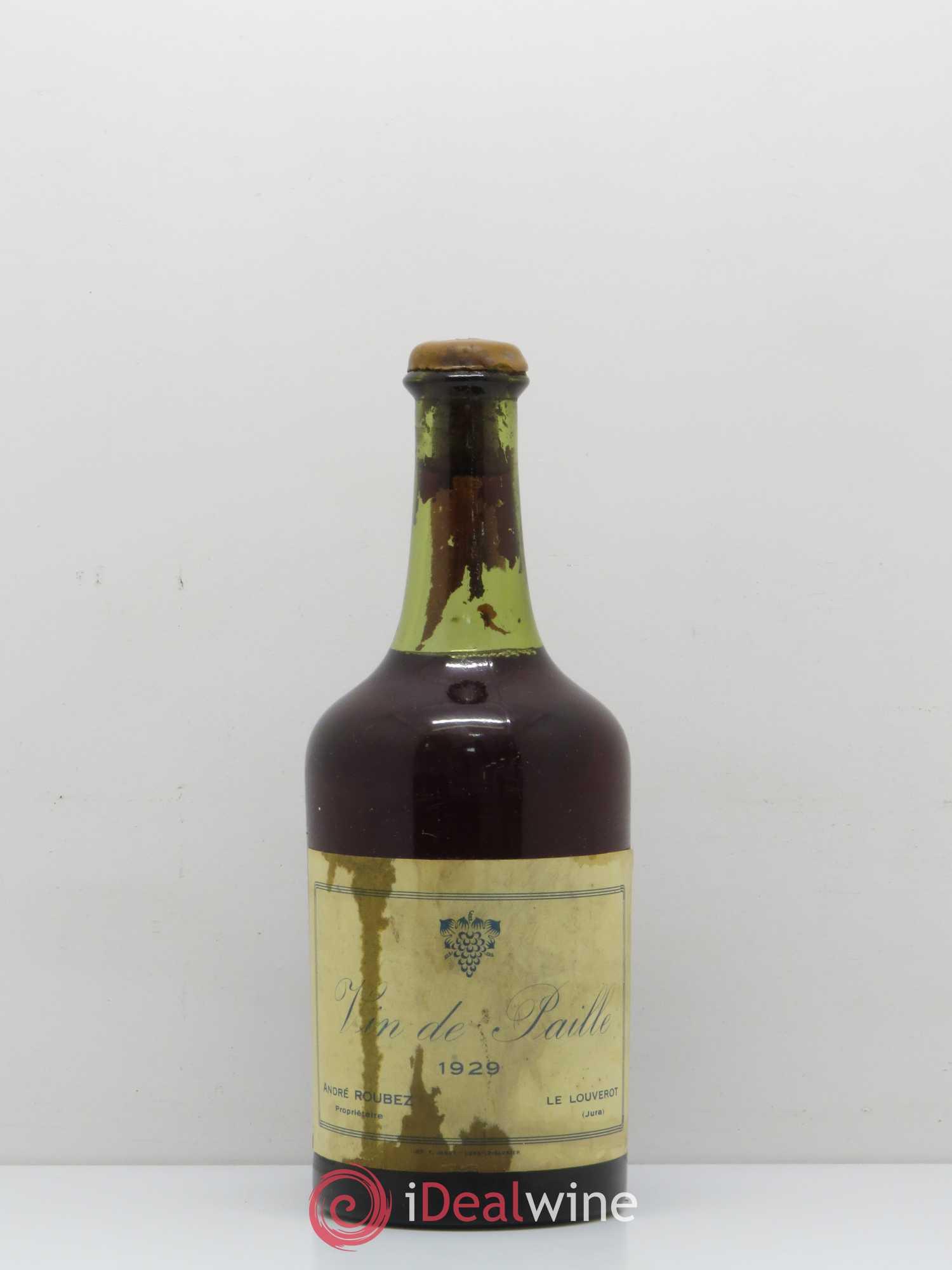 3f357263831 Côtes du Jura Vin de Paille André Roubez 1929 - Lot of 1 Bottle