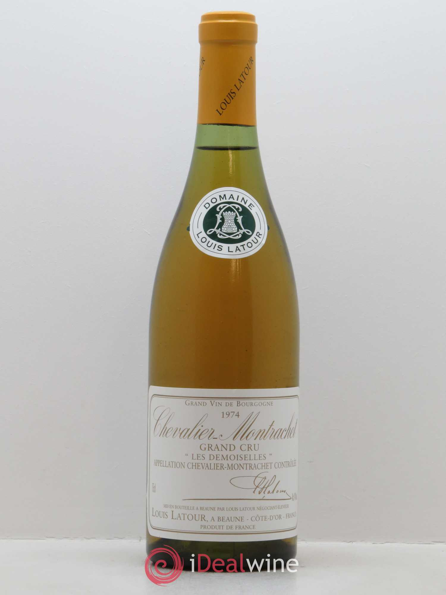 Chevalier-Montrachet Grand Cru Les Demoiselles Louis Latour (Domaine) (Unit Wooden Case) 1974 - Lot of 1 Bottle