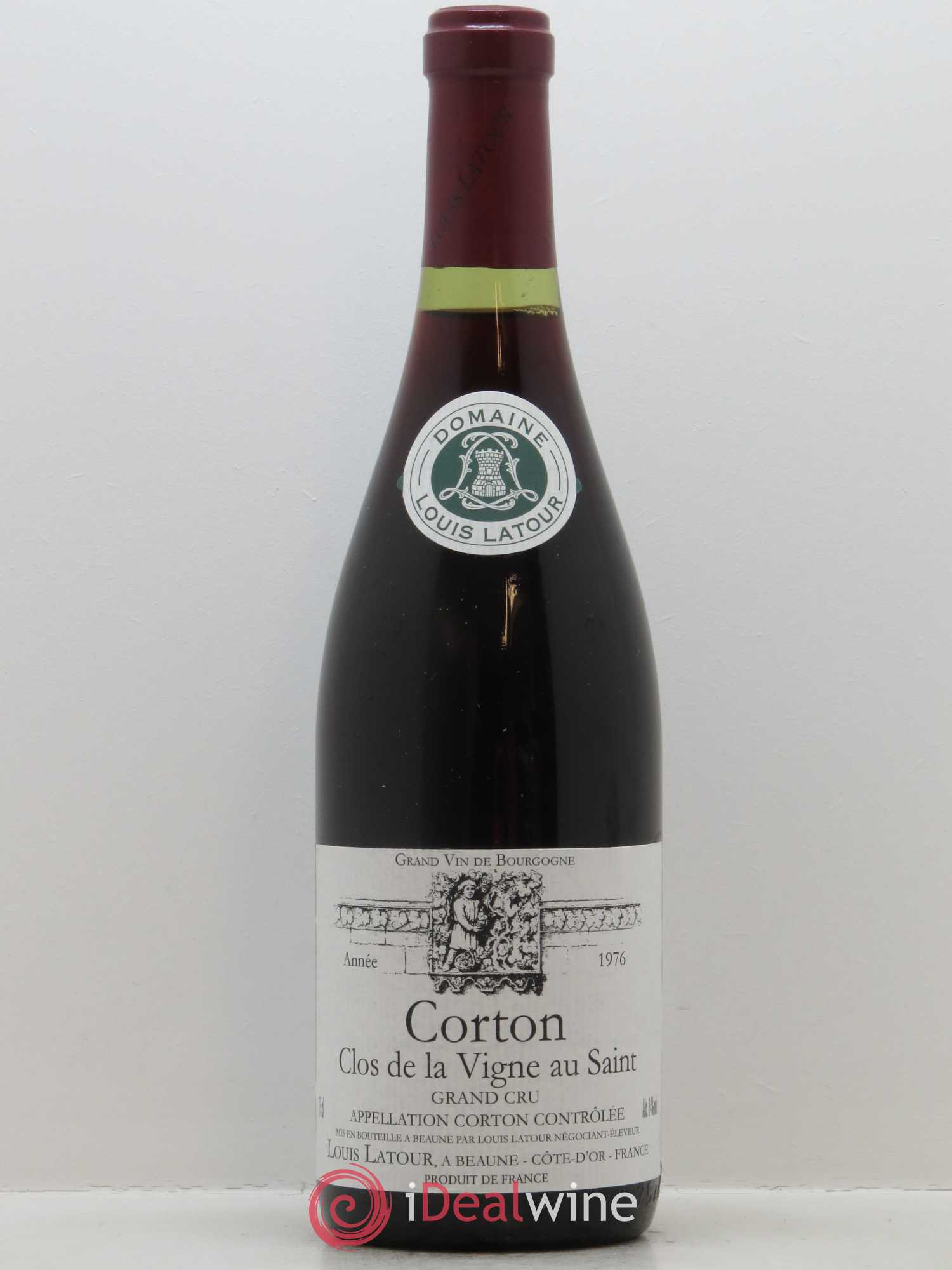 Corton Grand Cru Clos de la vigne au Saint Louis Latour (Domaine)  1976 - Lot of 1 Bottle