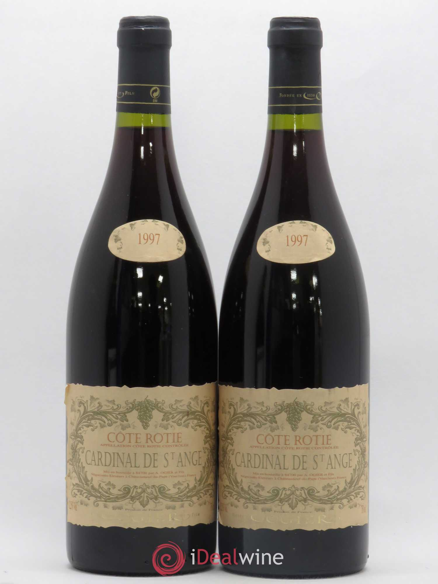 Côte-Rôtie Cardinal de Saint-Ange Domaine Ogier 1997 - Lot of 2 Bottles