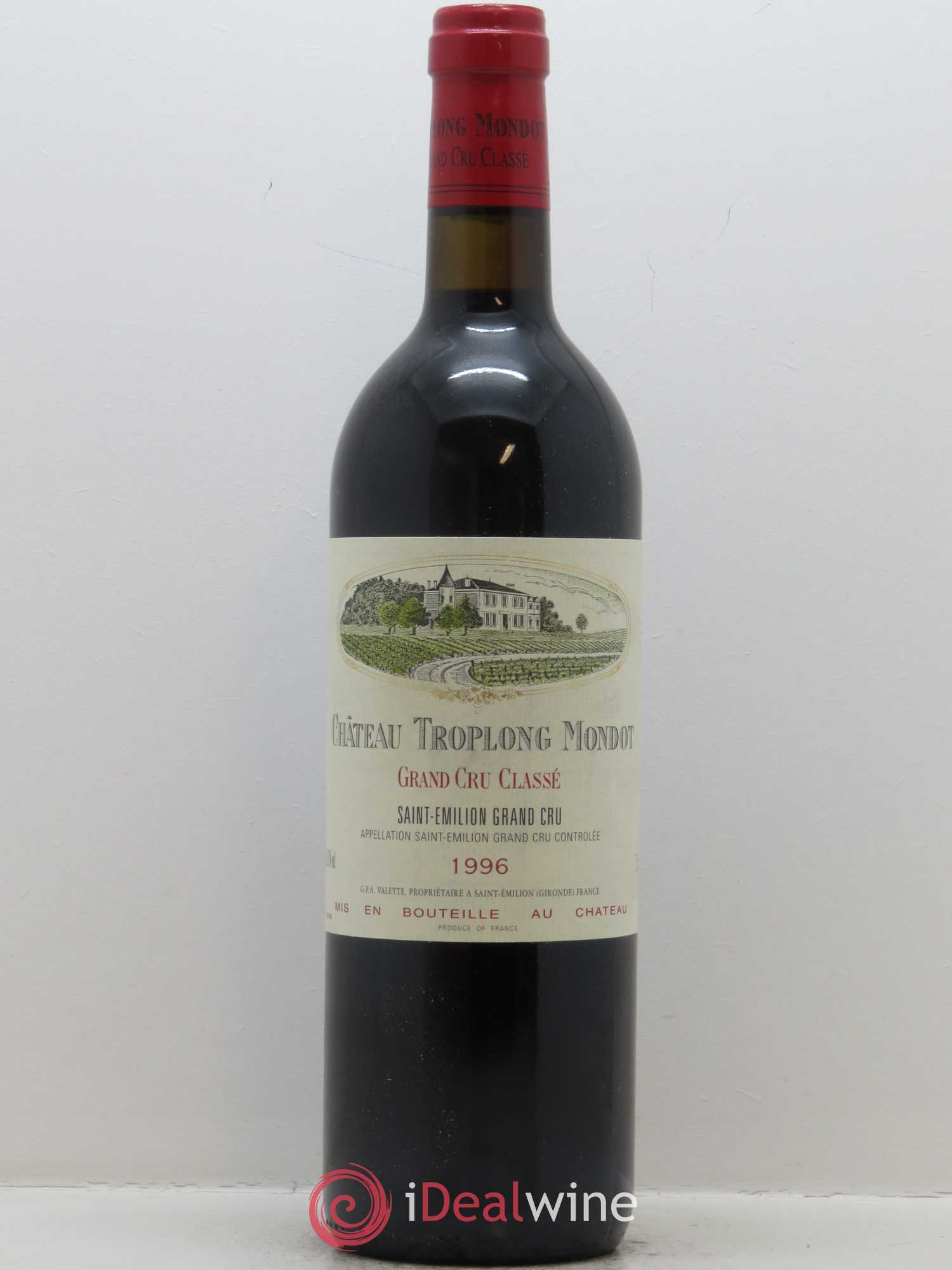 Château Troplong Mondot 1er Grand Cru Classé B  1996 - Lot of 1 Bottle