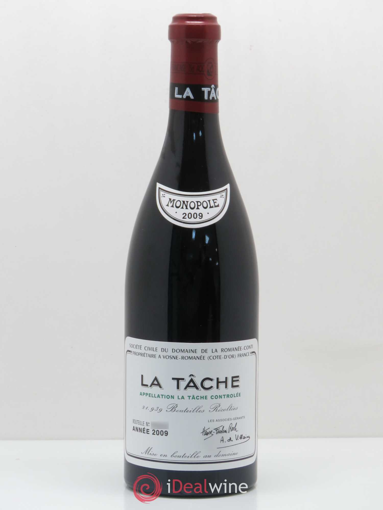 La Tâche Grand Cru Domaine de la Romanée-Conti  2009 - Lot of 1 Bottle