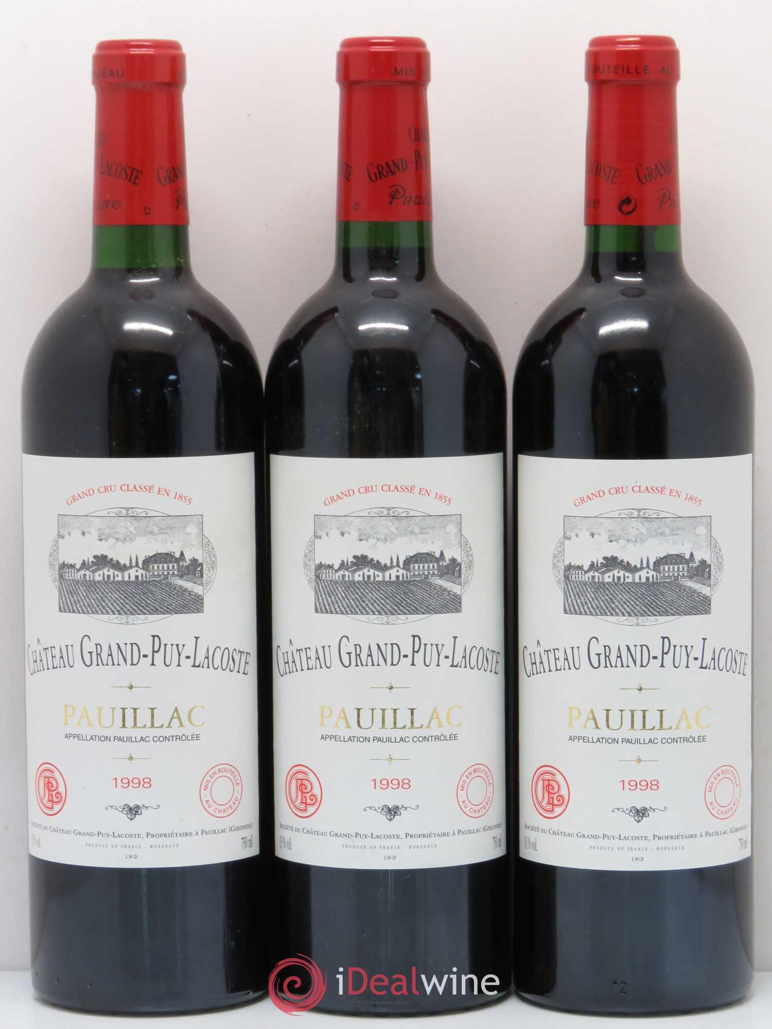 5ème Classé 1998 lot Grand 5578 Cru Château Puy Acheter Lacoste xIwf6HH