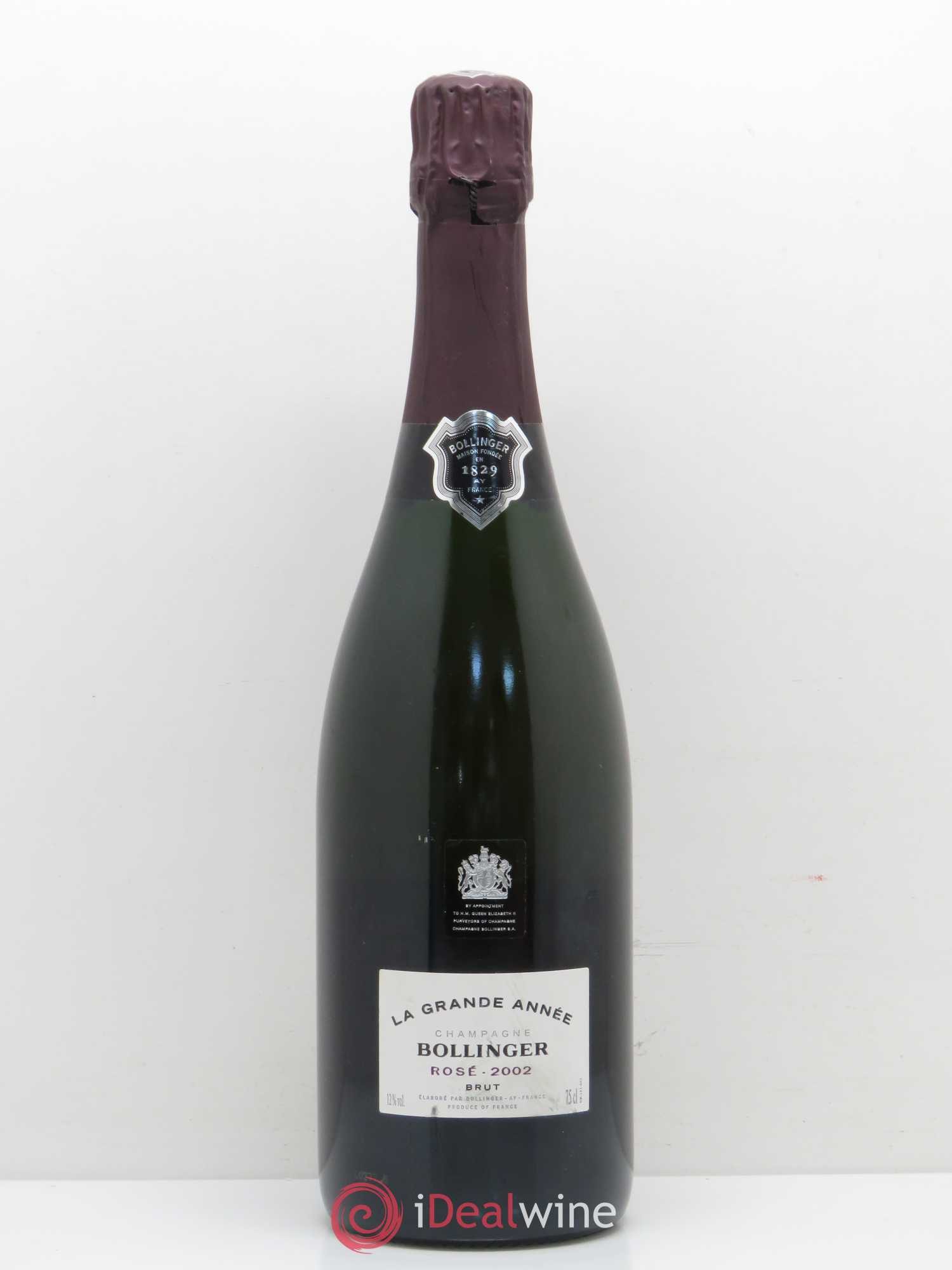 Grande Année Bollinger  2002 - Lot of 1 Bottle