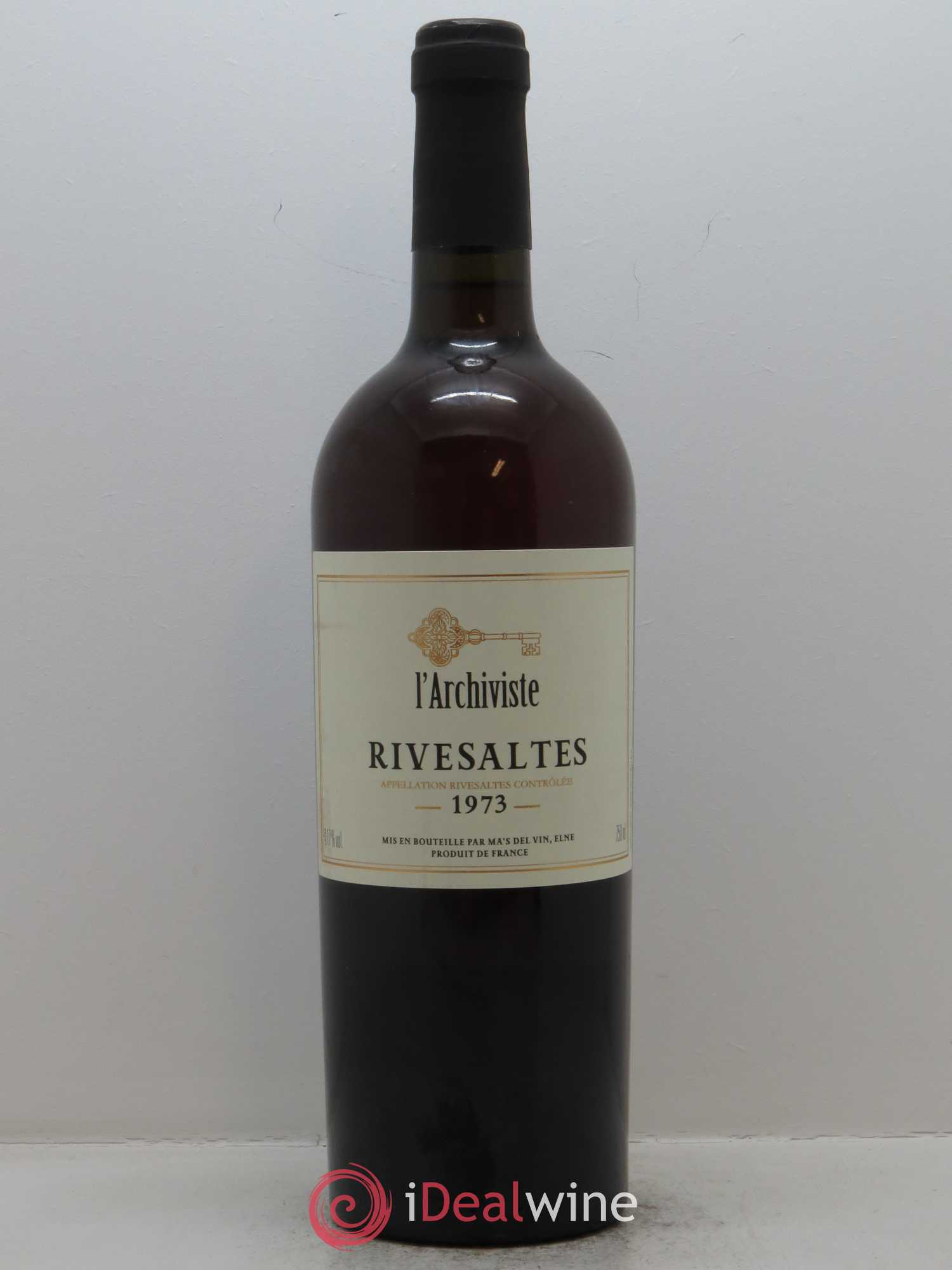 Rivesaltes L'Archiviste  1973 - Lot de 1 Bouteille