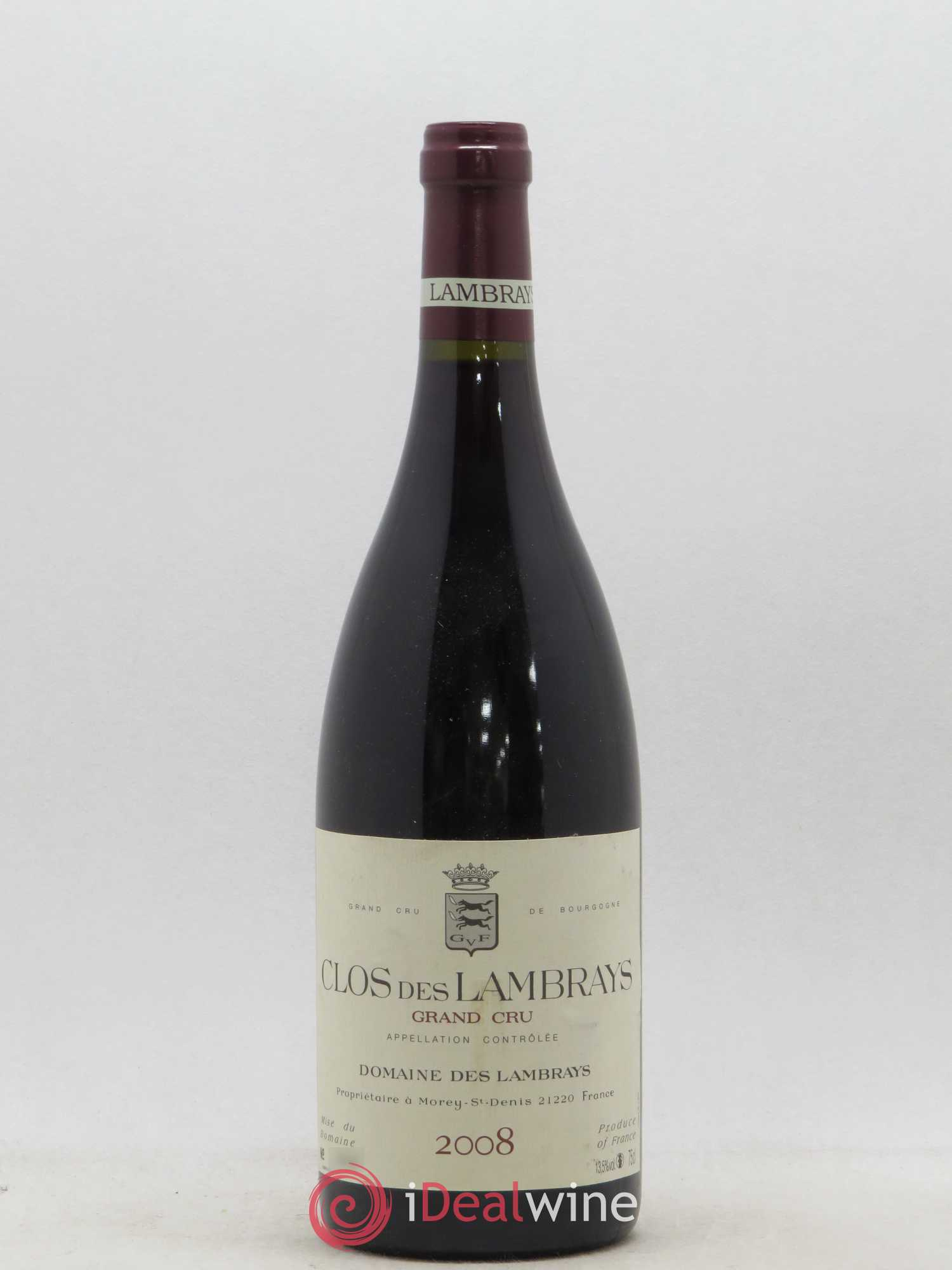 Clos des Lambrays Grand Cru Domaine des Lambrays  2008 - Lot of 1 Bottle