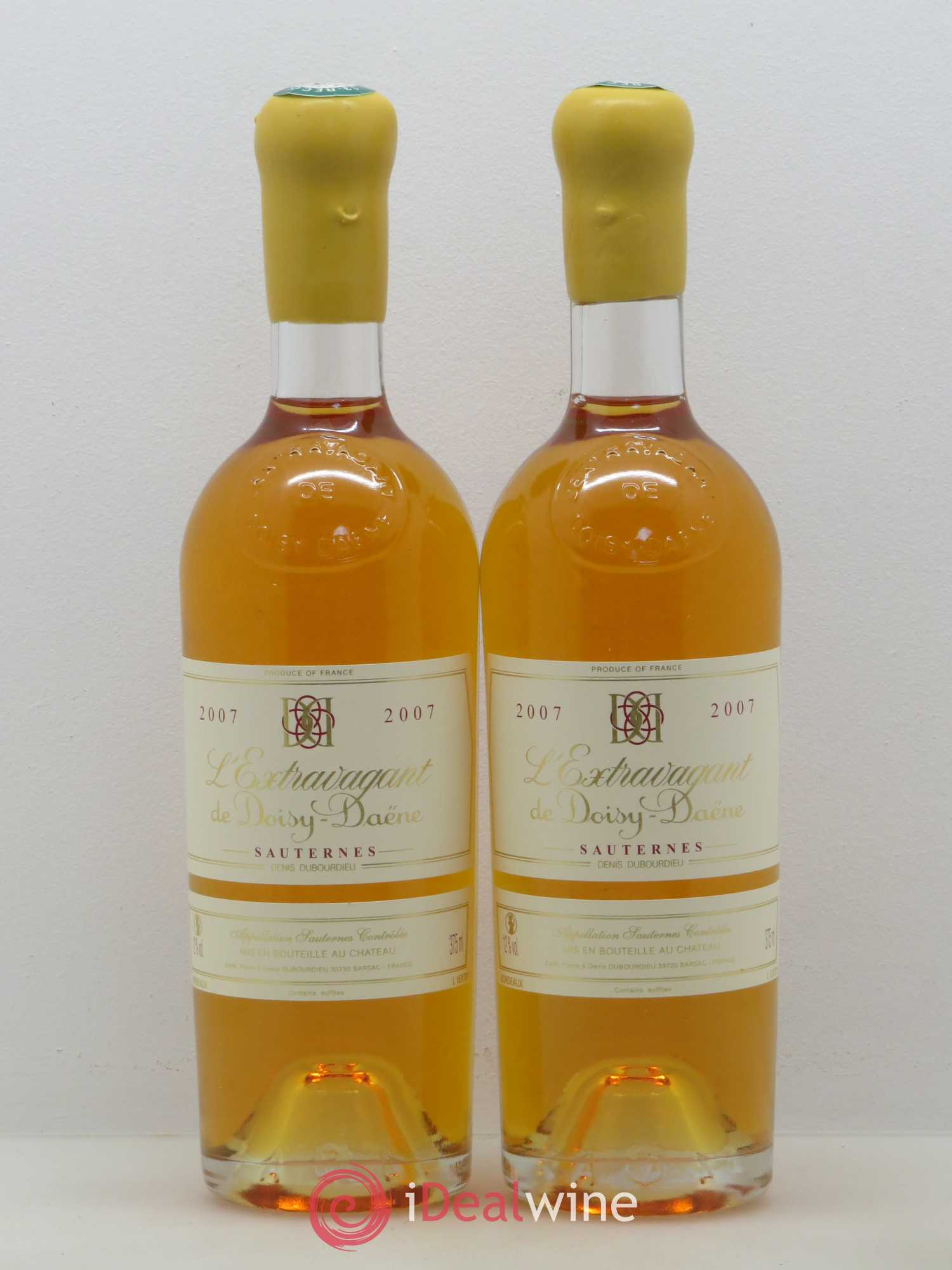 L'Extravagant de Doisy Daëne  2007 - Lot of 2 Half-bottles
