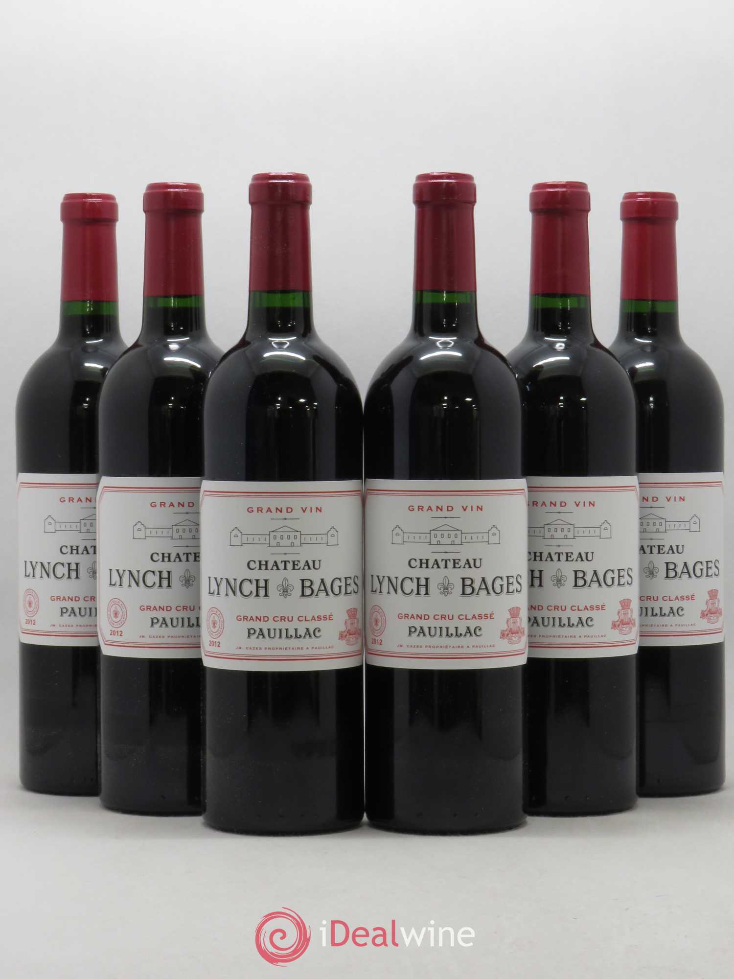 Château Lynch Bages 5ème Grand Cru Classé  2012 - Lot of 6 Bottles