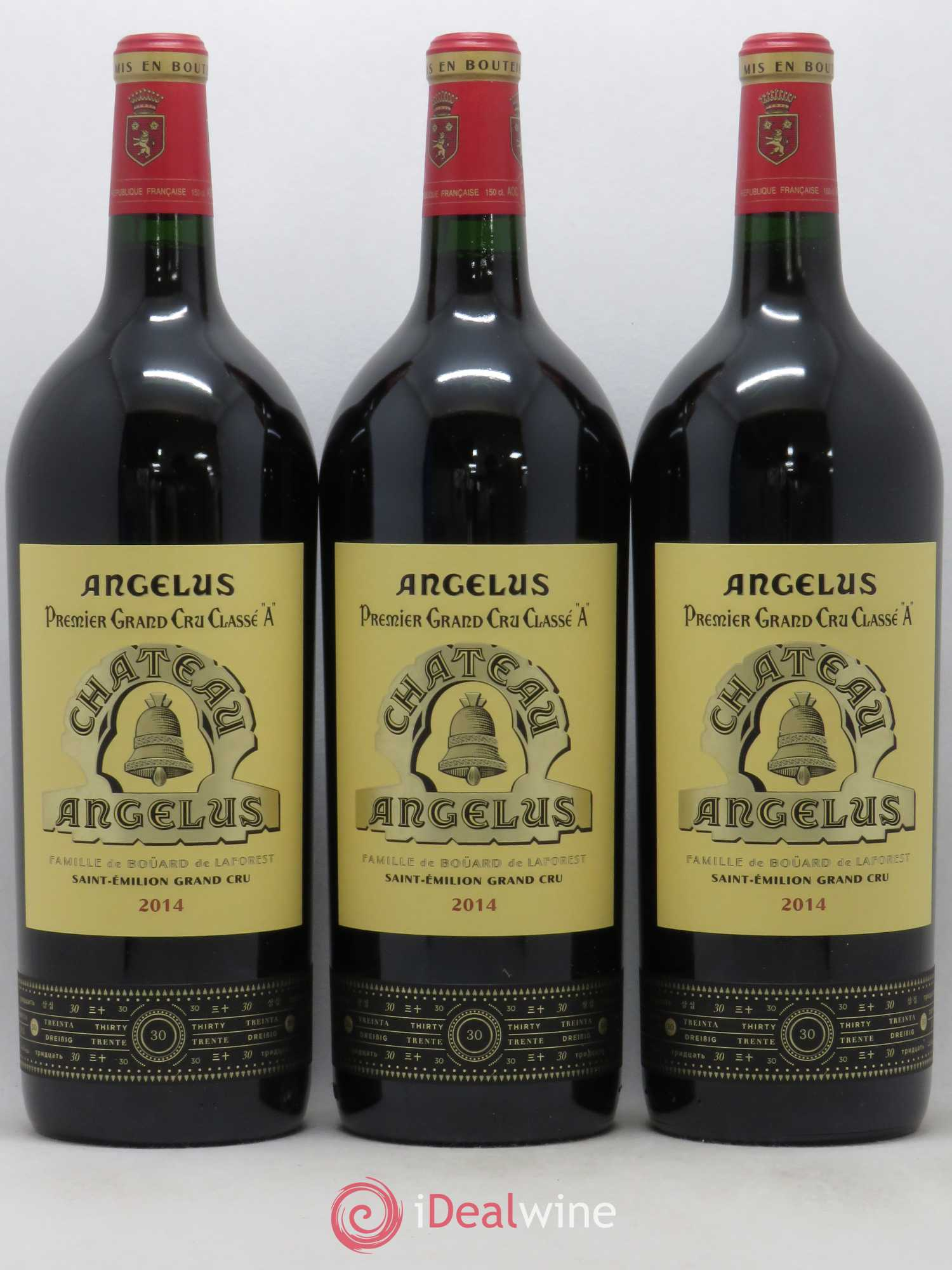 Château Angélus 1er Grand Cru Classé A  2014 - Lot of 3 Magnums