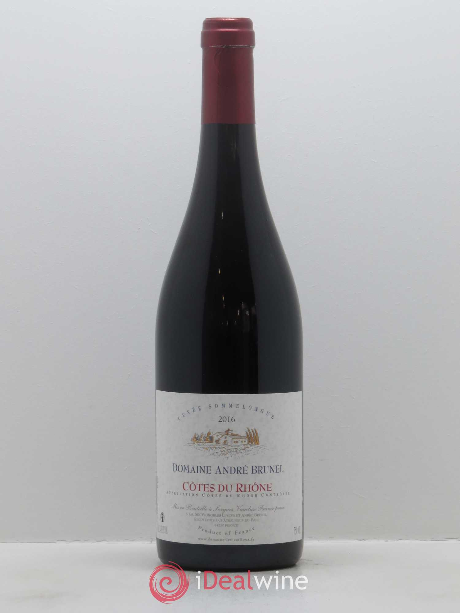 Côtes du Rhône Sommelongue André Brunel  2016 - Lot of 1 Bottle