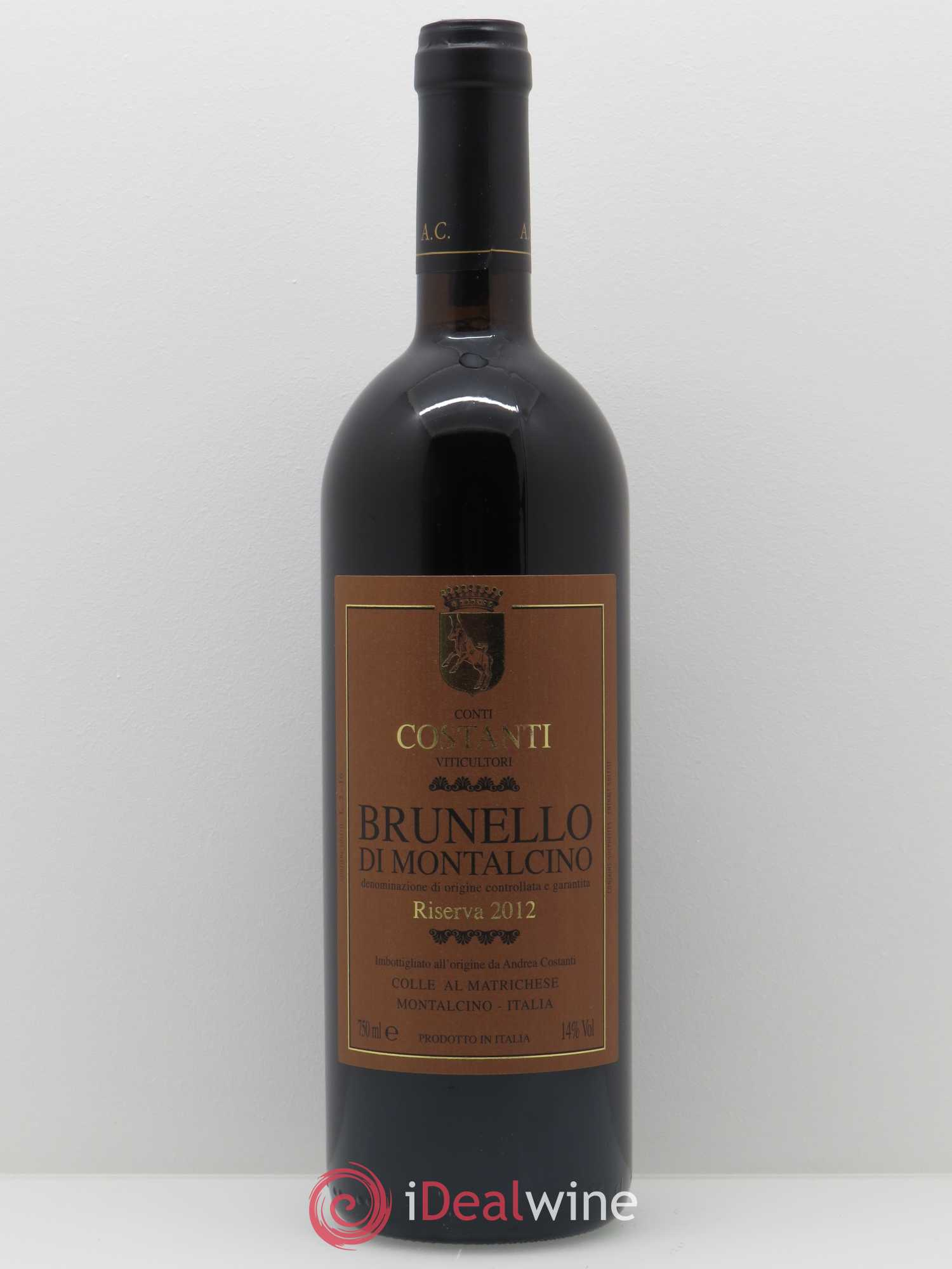 Brunello di Montalcino Conti Costanti Riserva  2012 - Lot of 1 Bottle