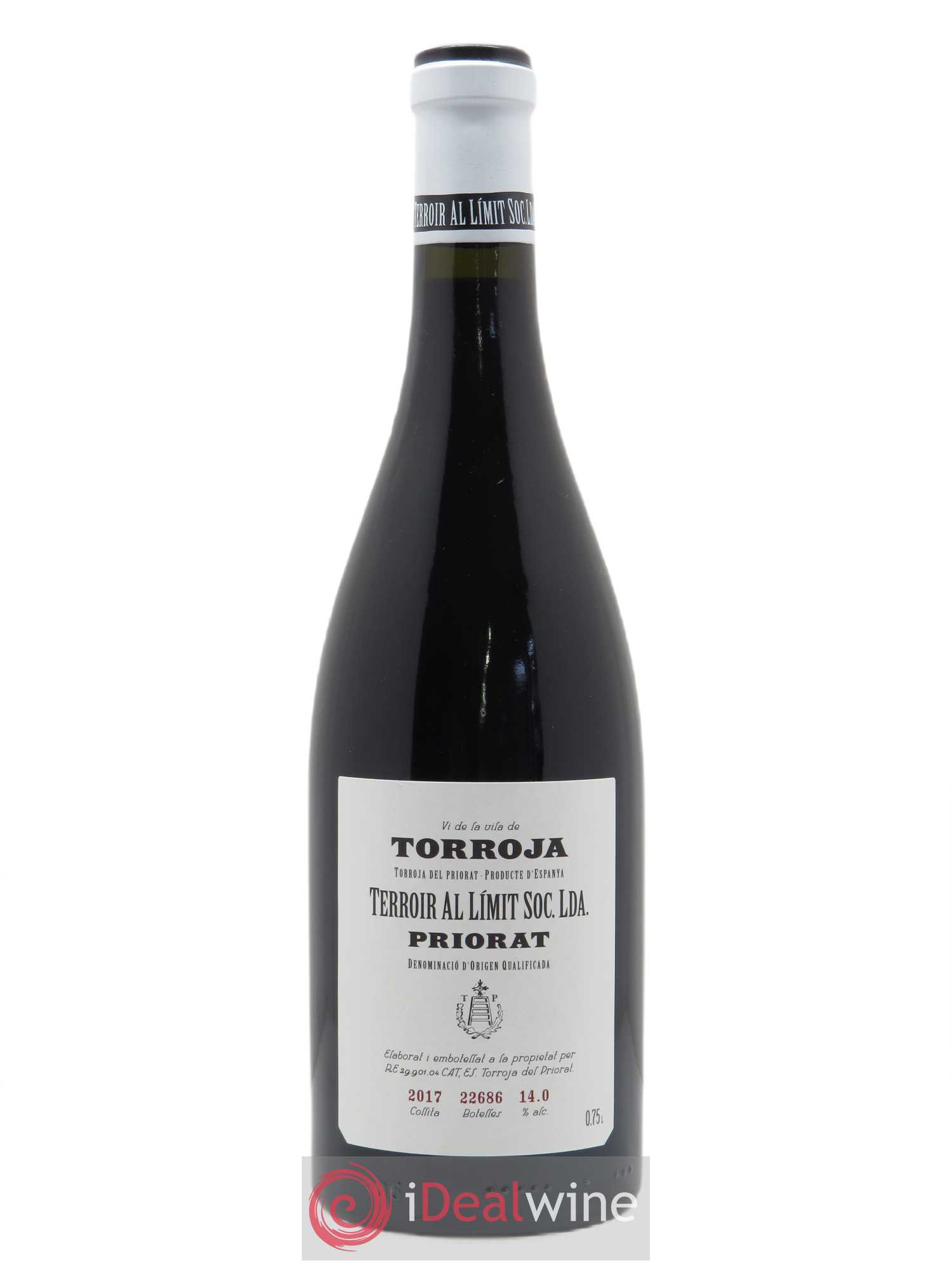 Priorat Terroir Al Limit Torroja  2017 - Lot de 1 Bouteille